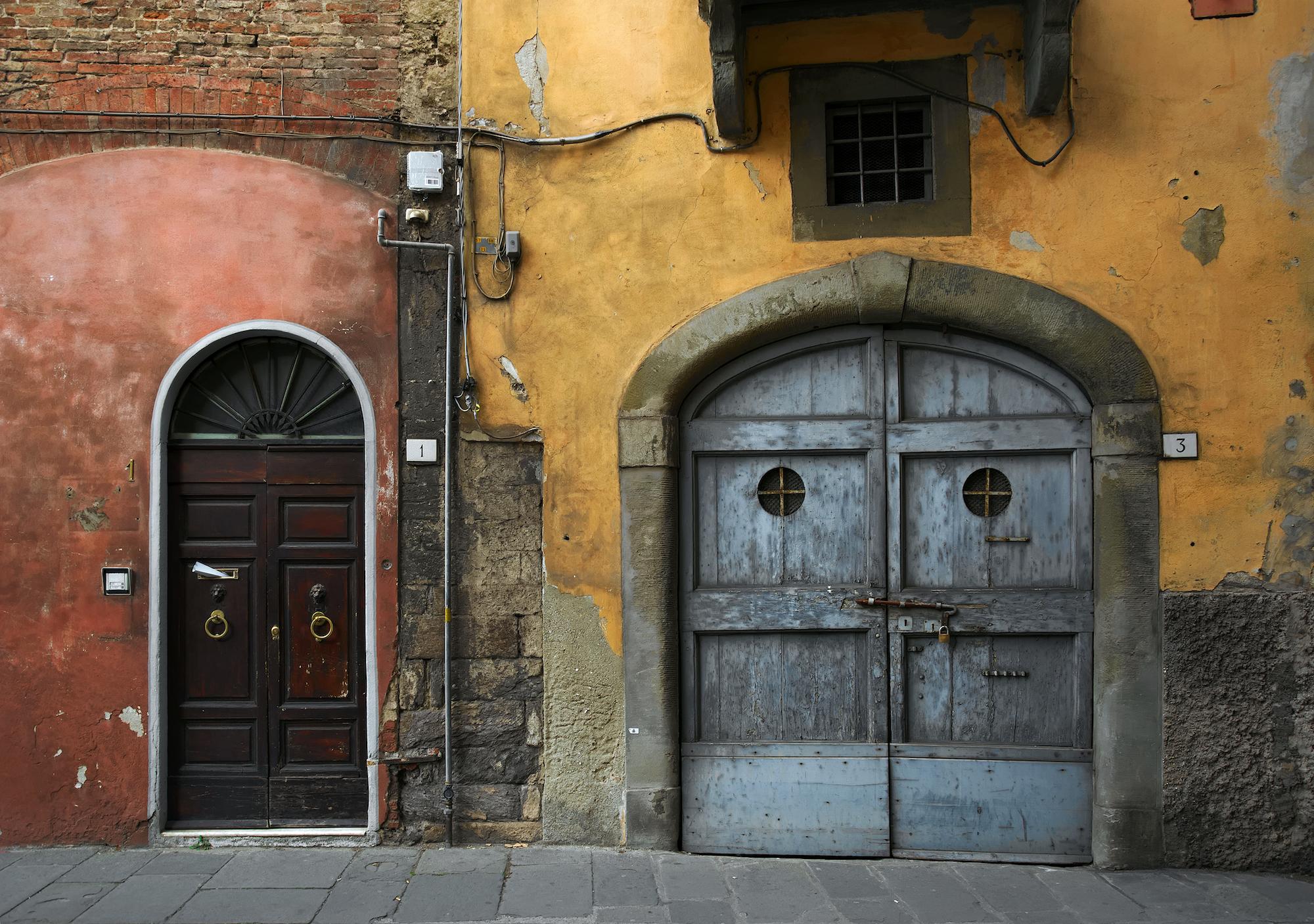Doorways in Pisa, Italy