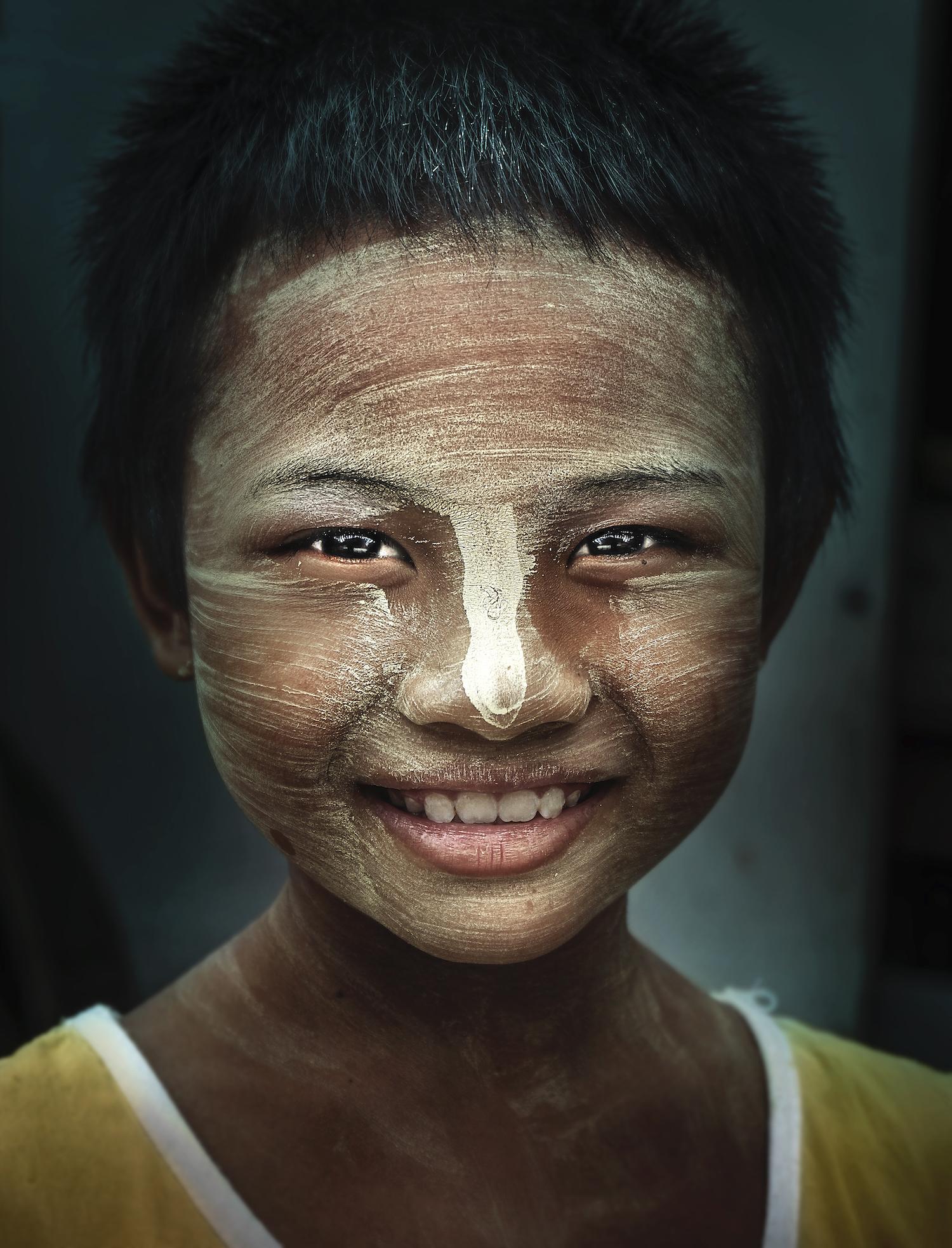 Portrait of a ThaNaKa Girl, Mandalay, Myanmar