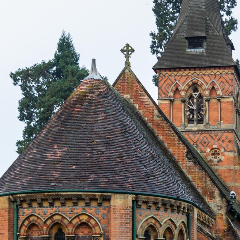 Blurry photo of a church