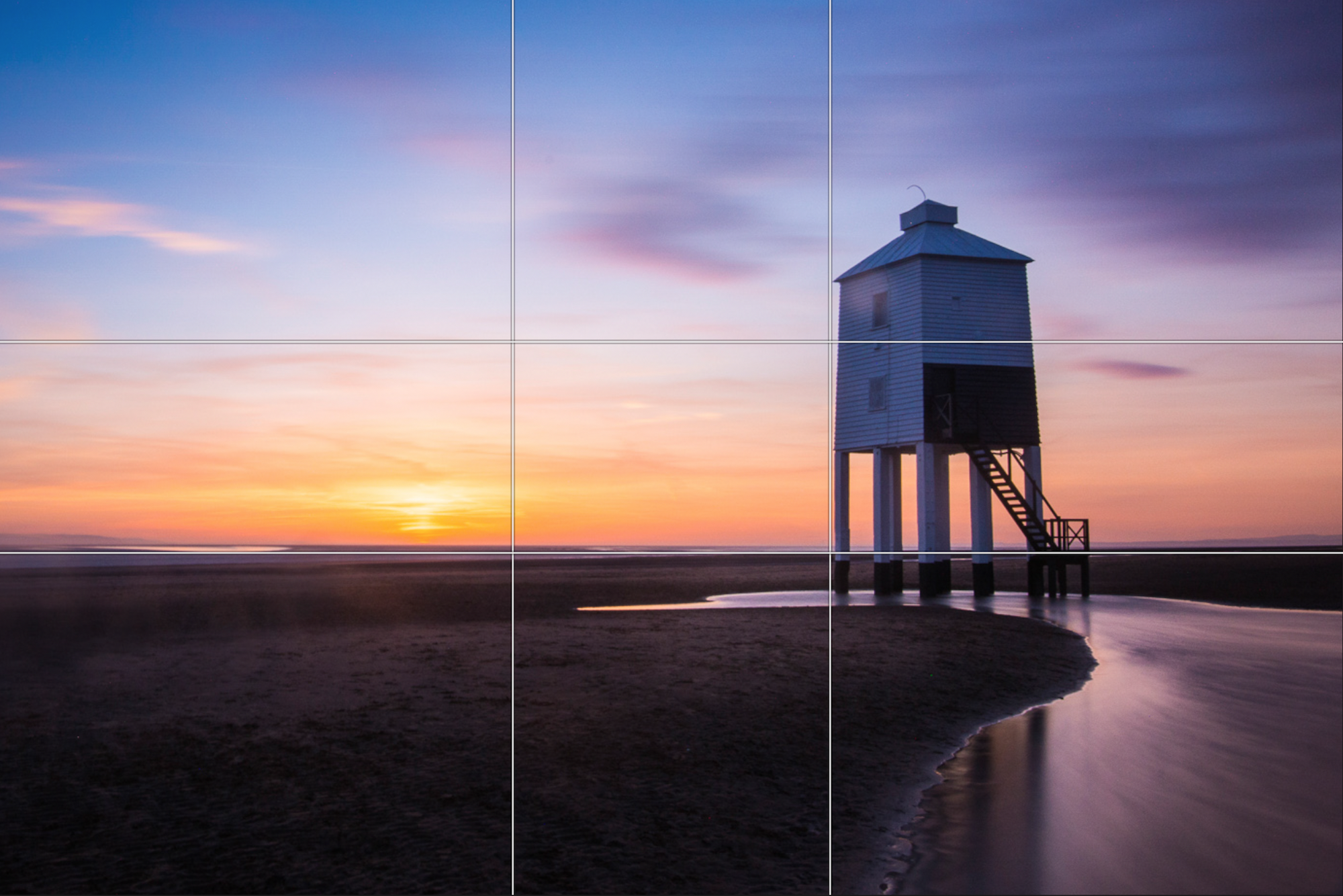 Seascape captured with the 'Golden Ratio' composition rules