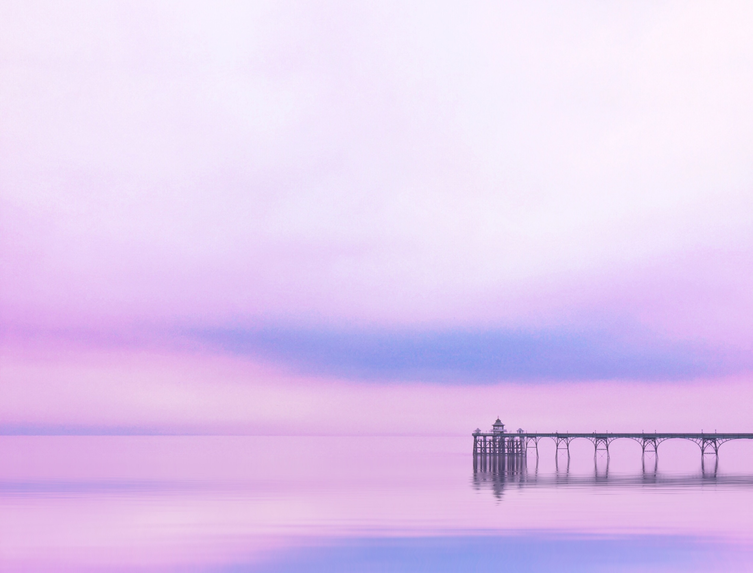 Candy minimal shot of a Victorian Pier taken on iPhone, in Clevedon, UK