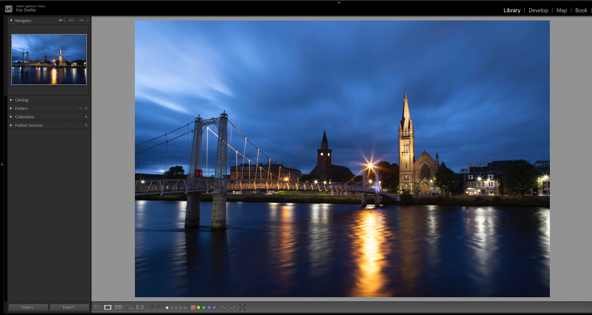 Lightroom screenshot showing how to select and change colour space
