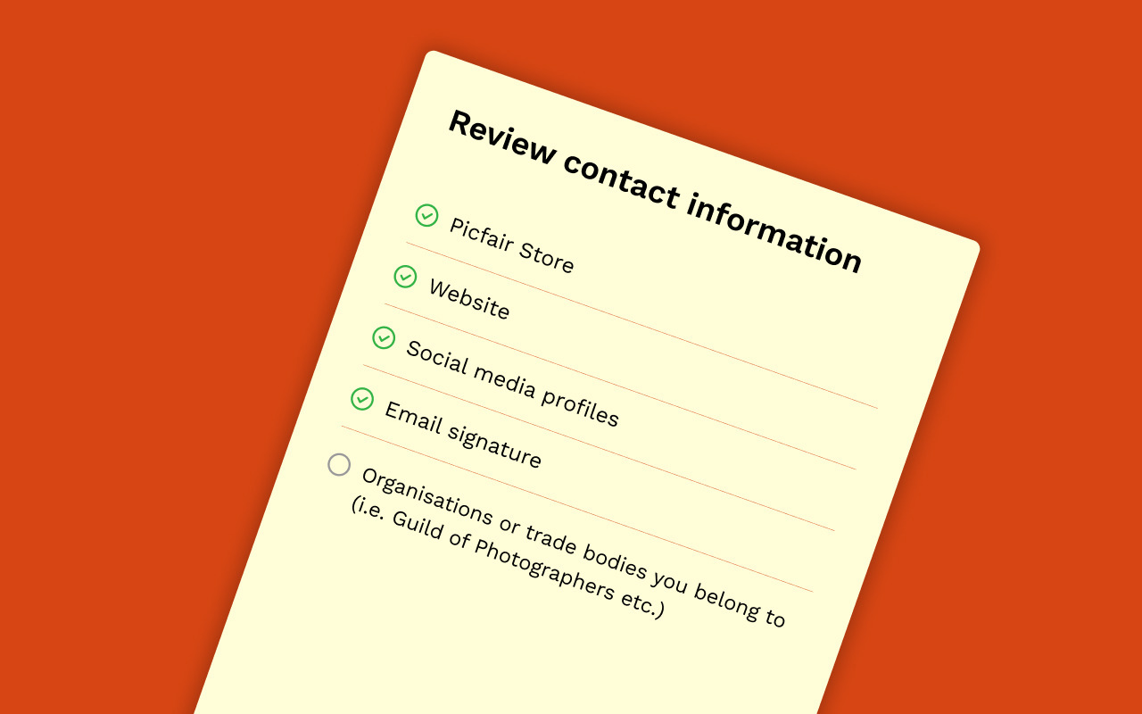 Concept image of contact information review