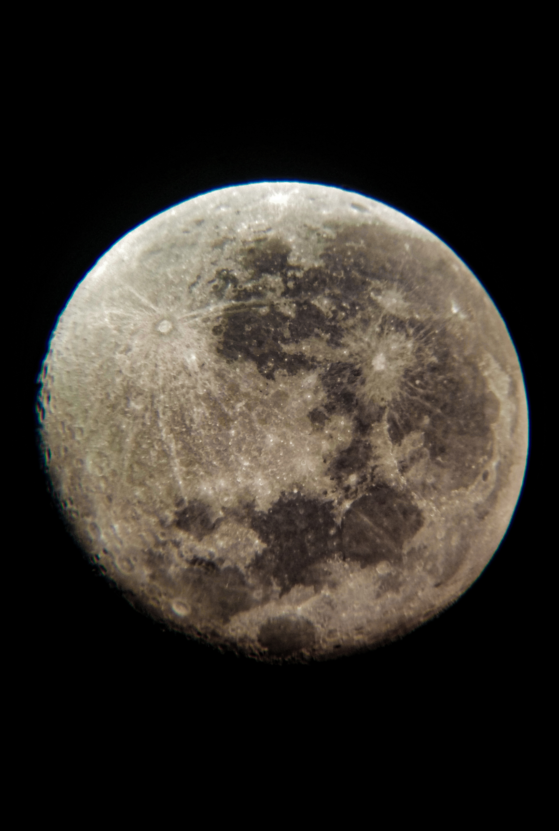 The moon shot in RAW format