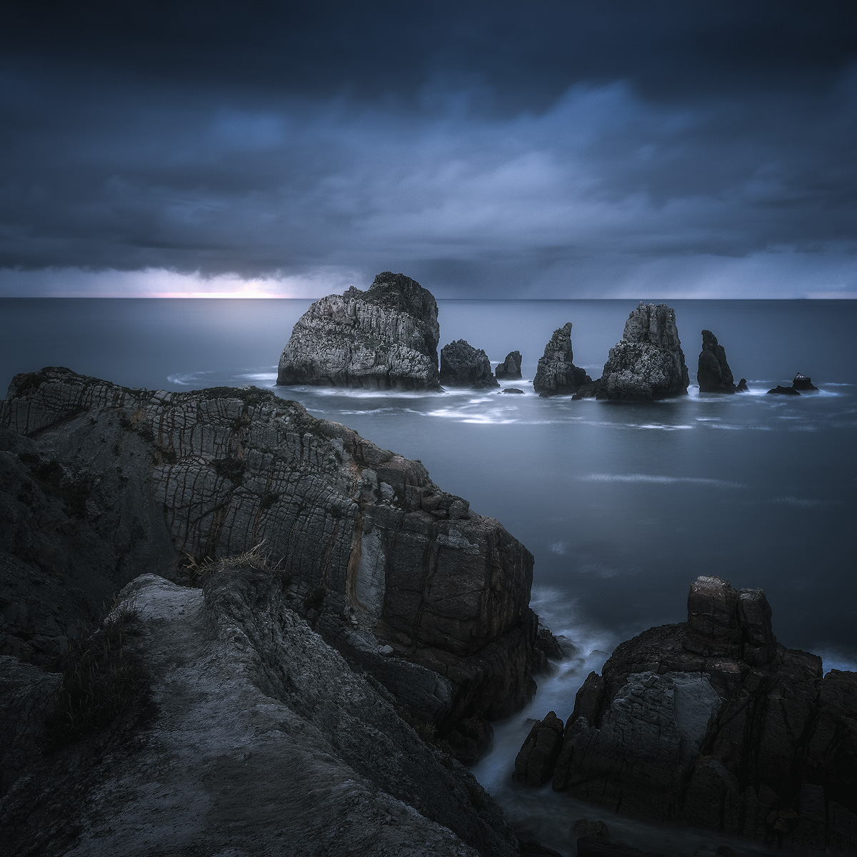 Silky smooth seascape captured by long exposure