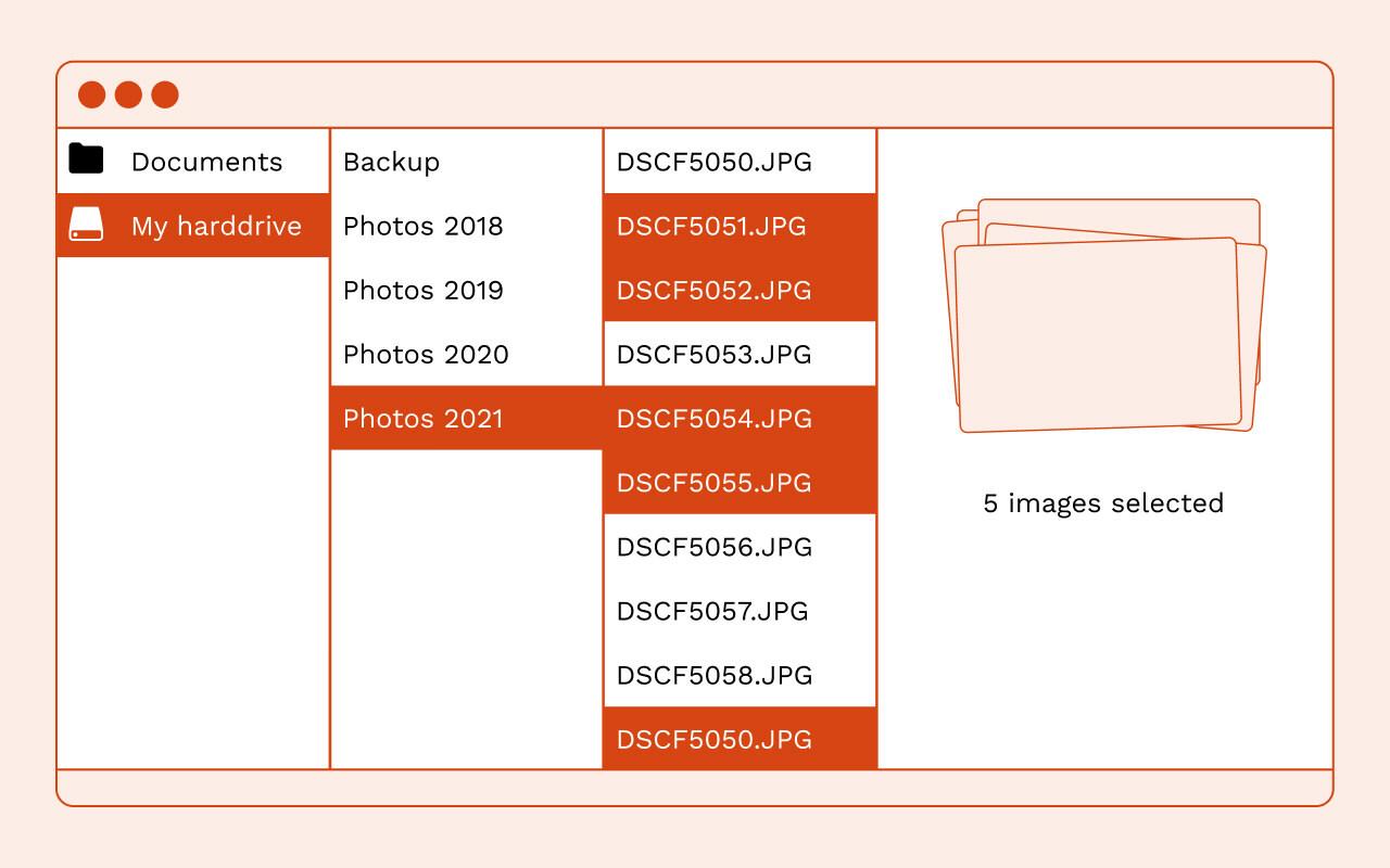 File path on a hard drive