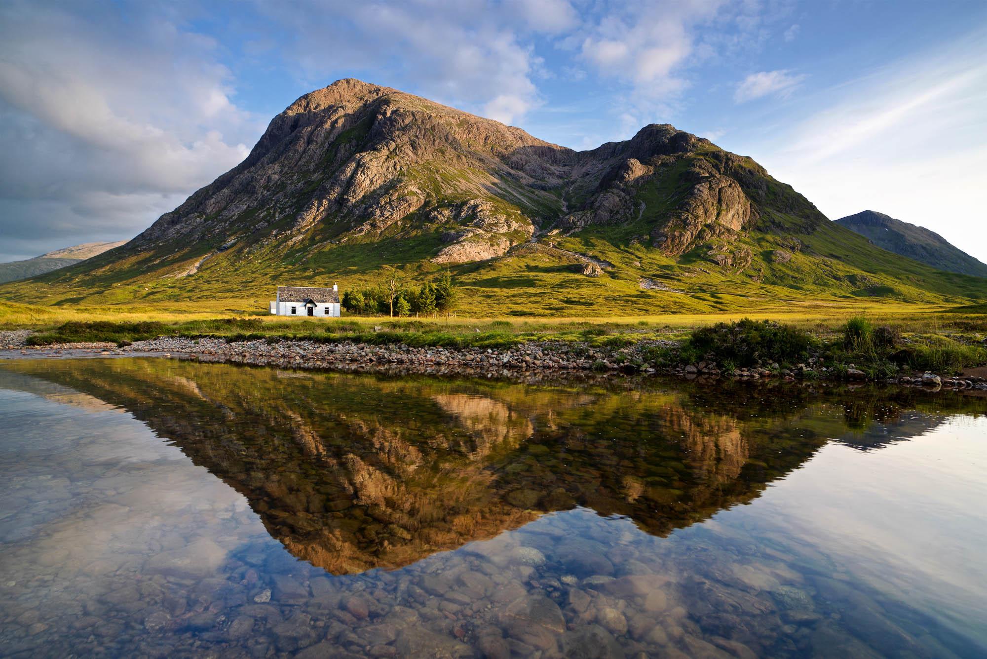 Summer reflections at Glencoe, Scotland