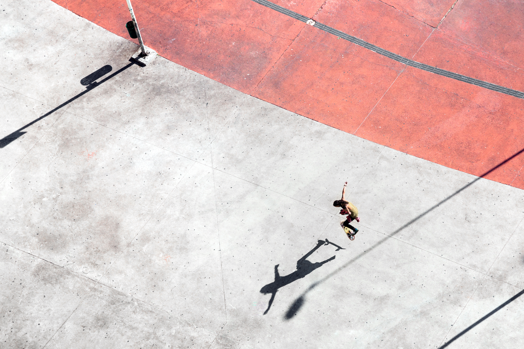 Shadow of a Brazilian skater from Sao Paulo