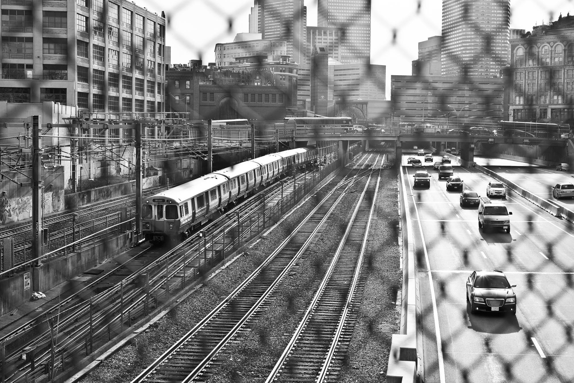 The Massachusetts Turnpike, Boston.