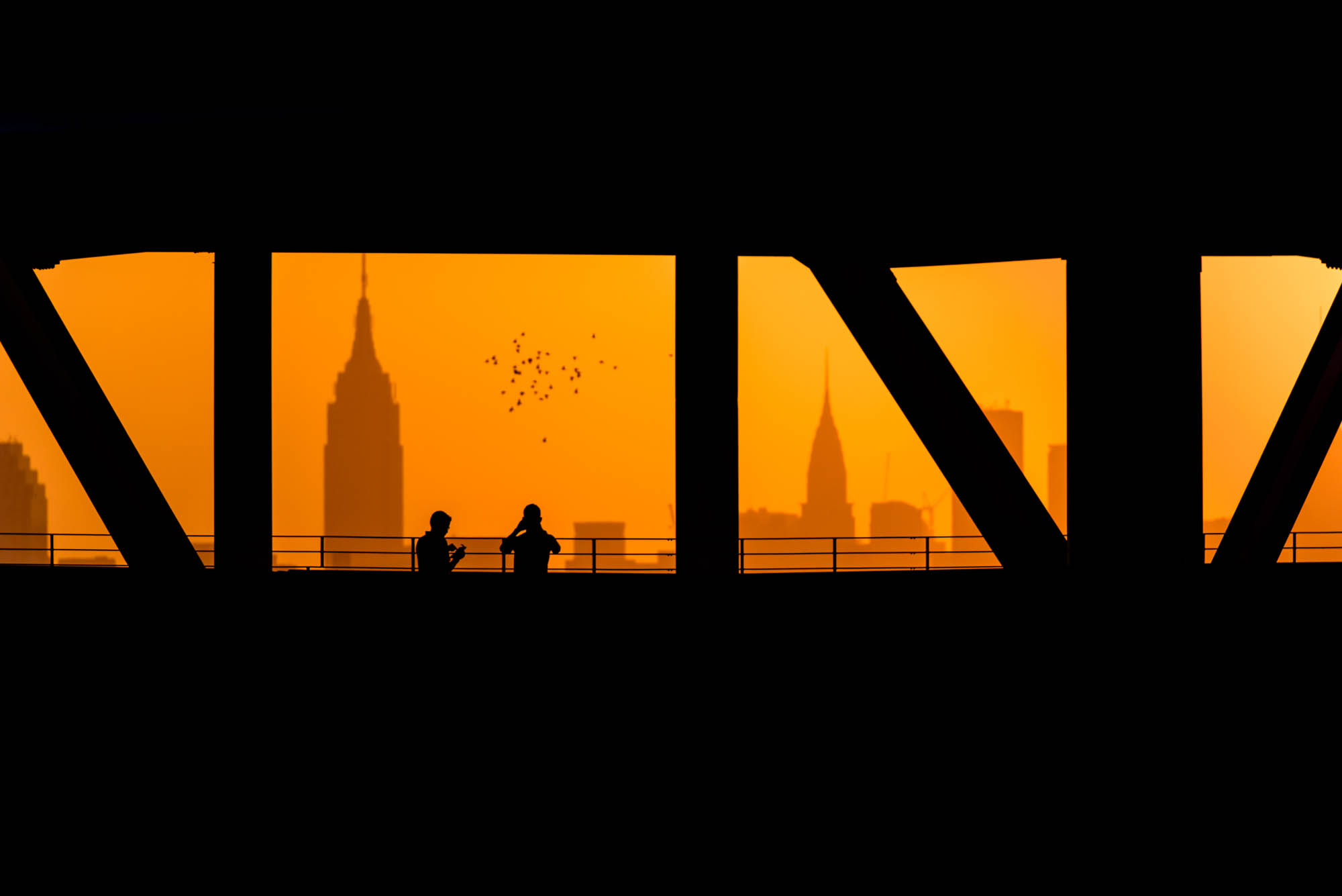 Silhouette of the New York City skyline