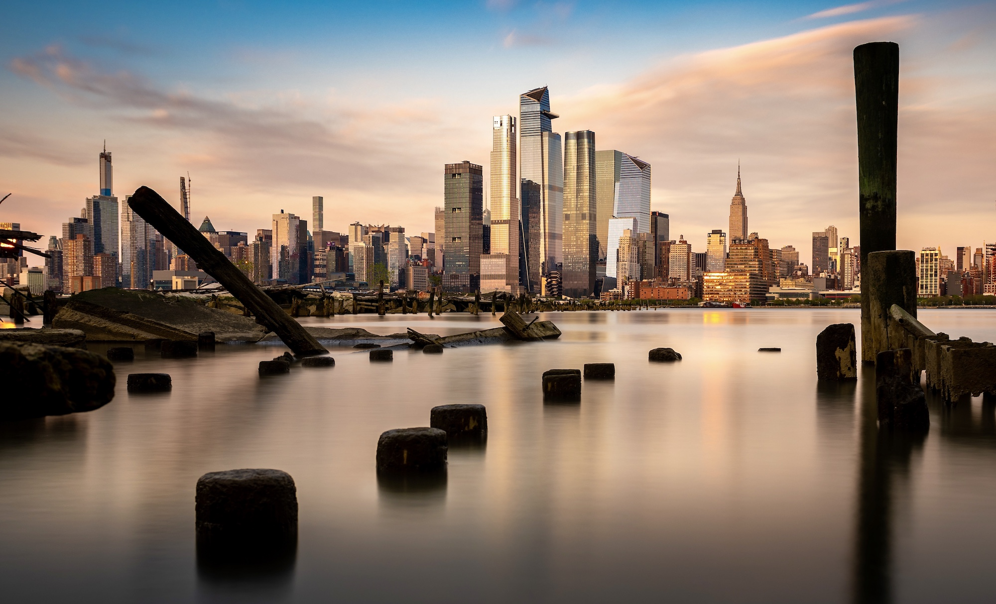 New York City long exposure at Golden Hour