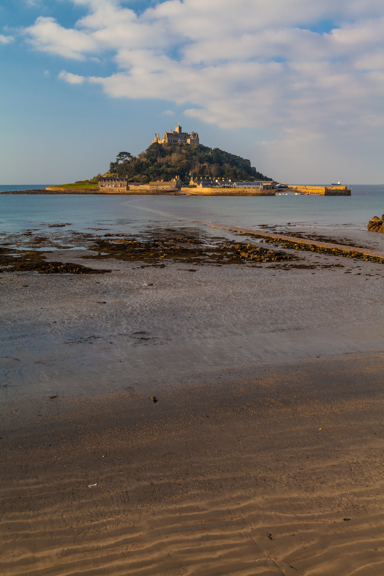 Landscape at Sant Michael's Mount, Cornwall, England without foreground interest