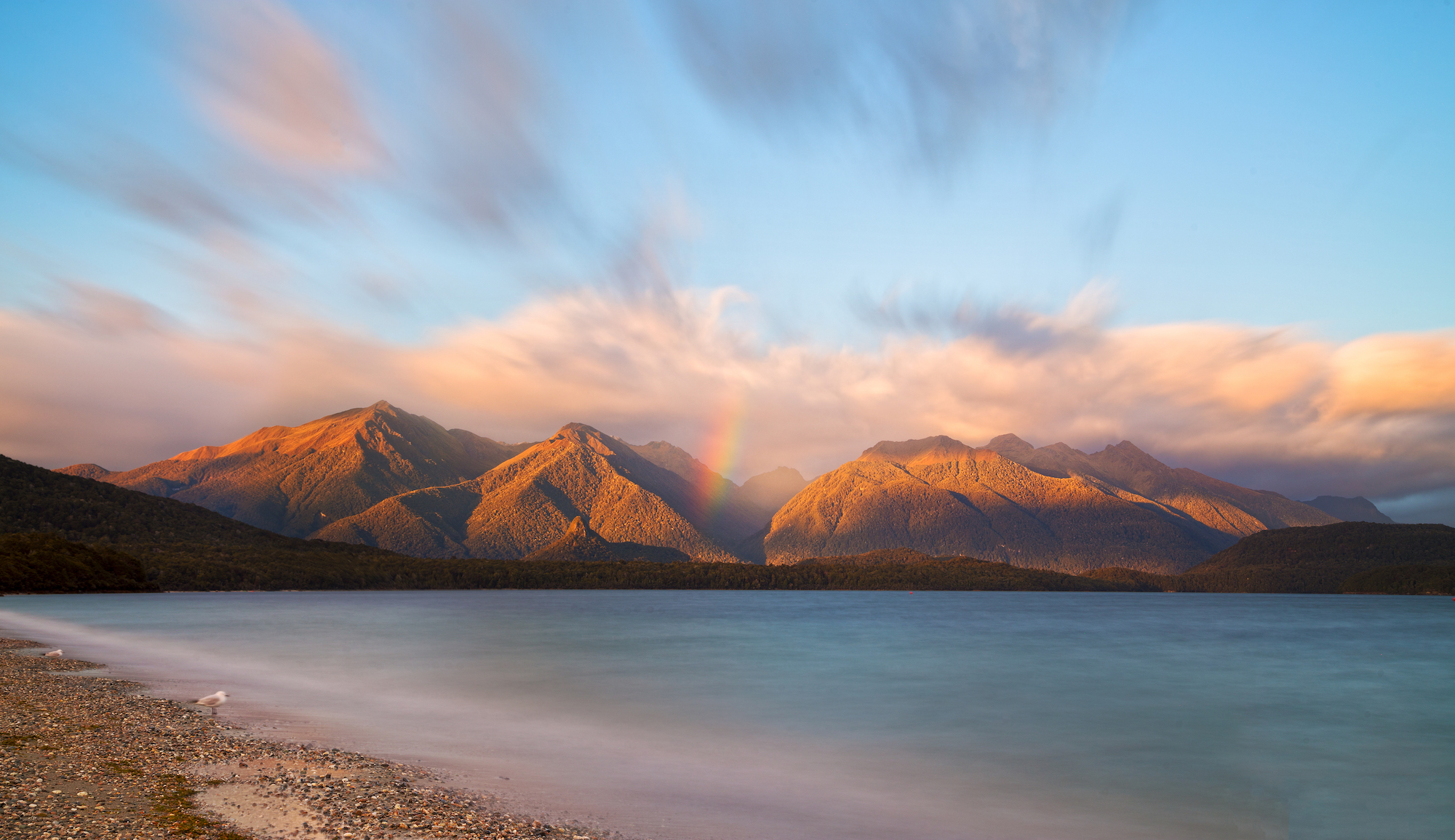 Dawn at Lake Manapouri, New Zeaand
