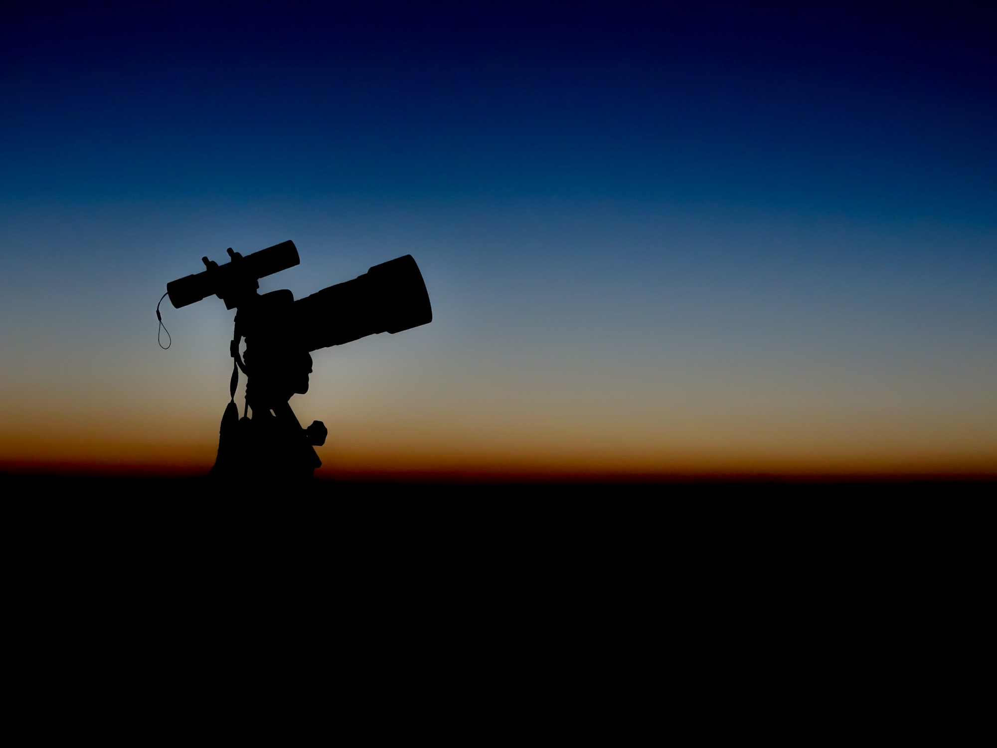 Camera set up to photograph the Blood Moon