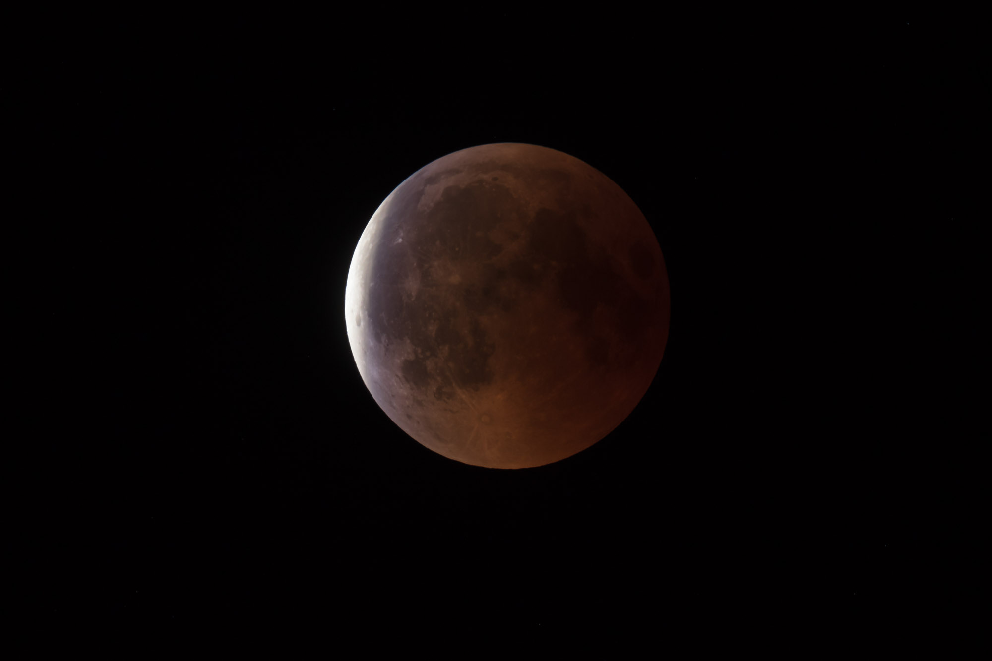 The penumbral phase of the Blood Moon