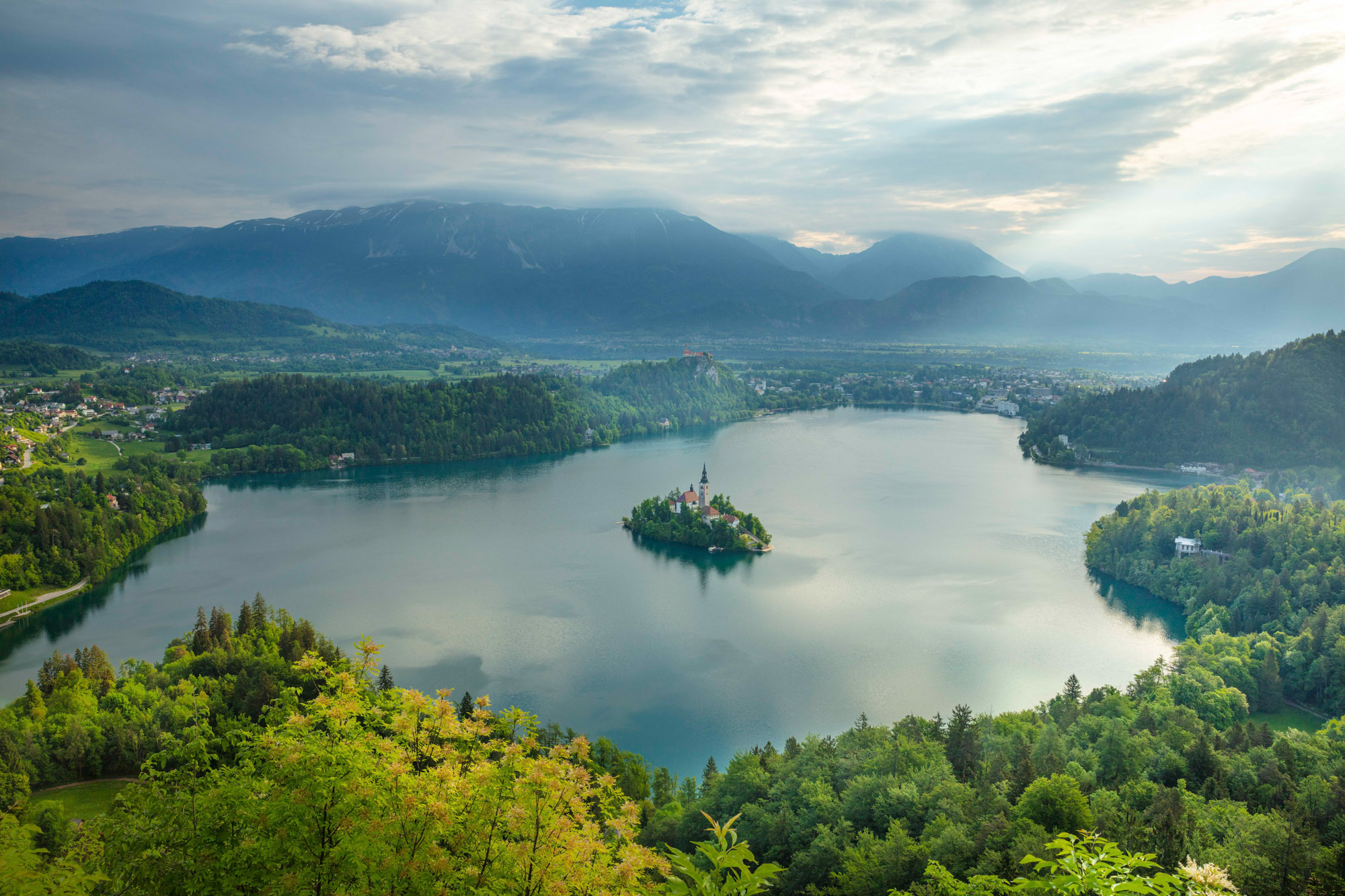 View over Lake Bled, Slovenia
