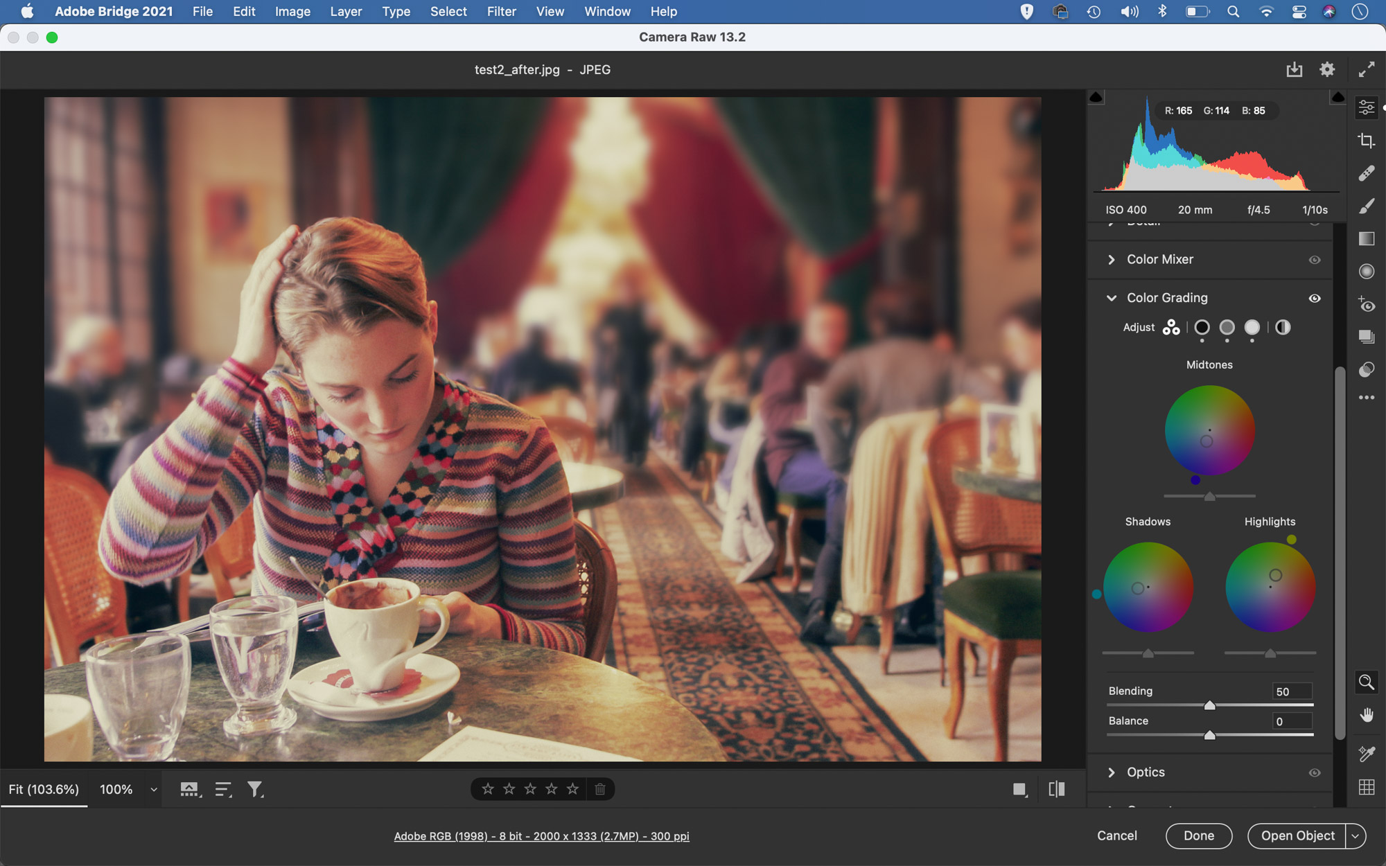 Giving a photo a vintage look with color grading and Lightroom profiles