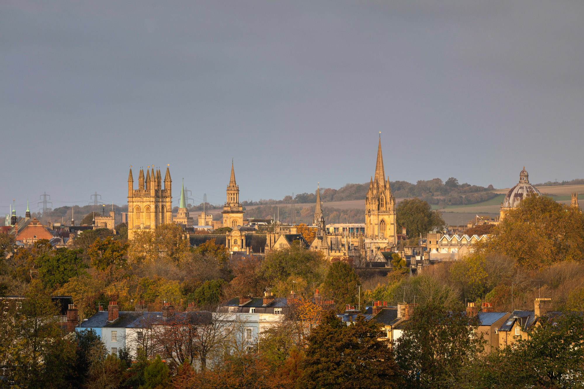 View toward the centre of Oxford UK