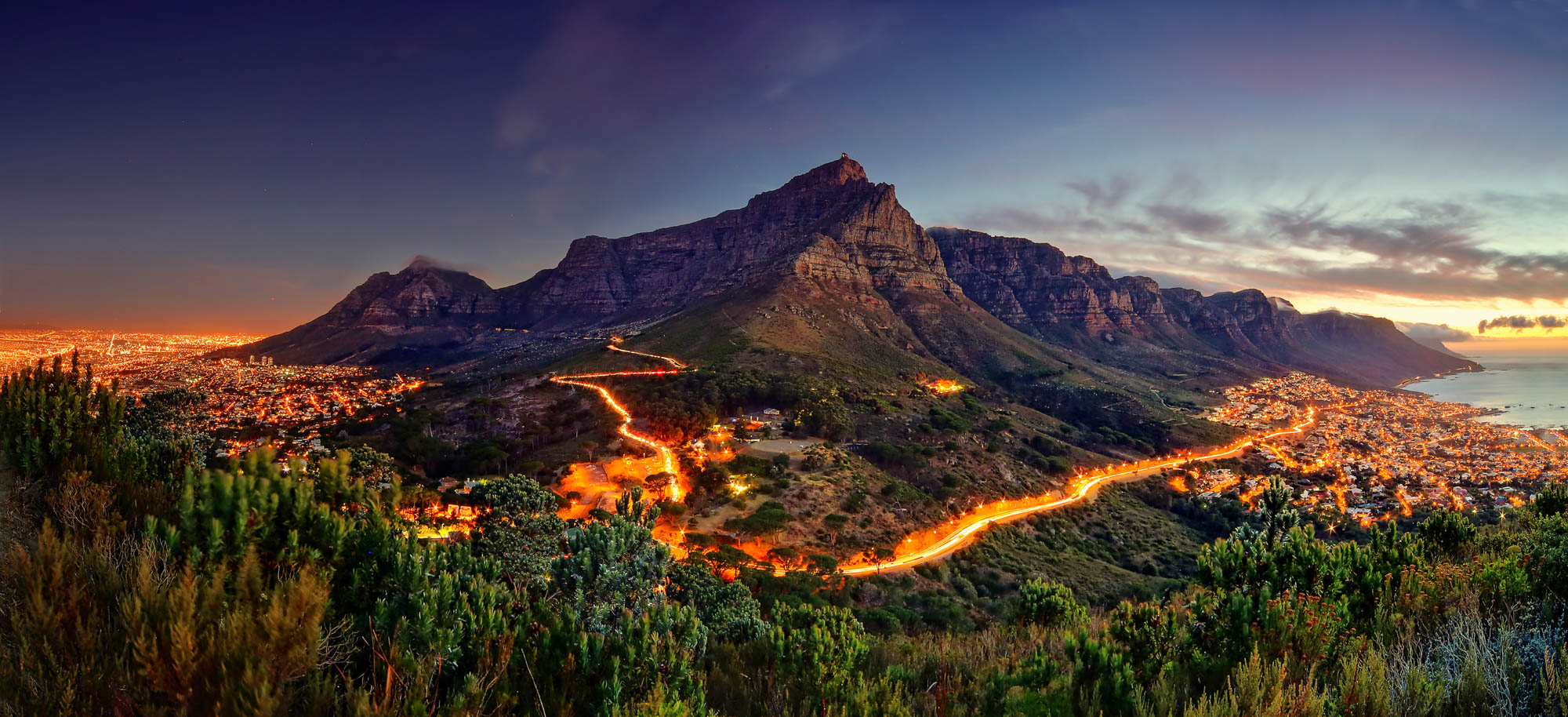 Sunset at Table Mountain, South Africa