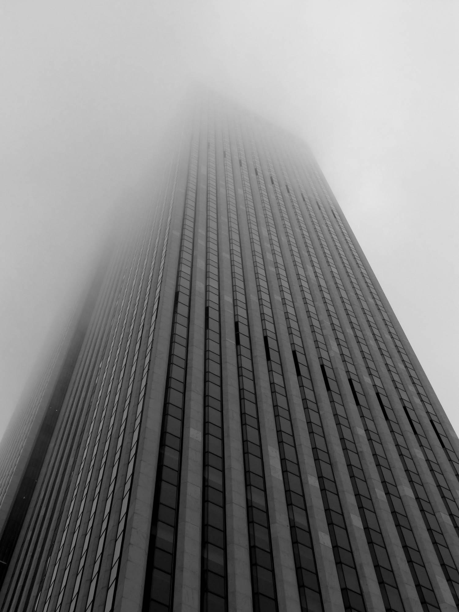 Skyscraper in the mist, New York City