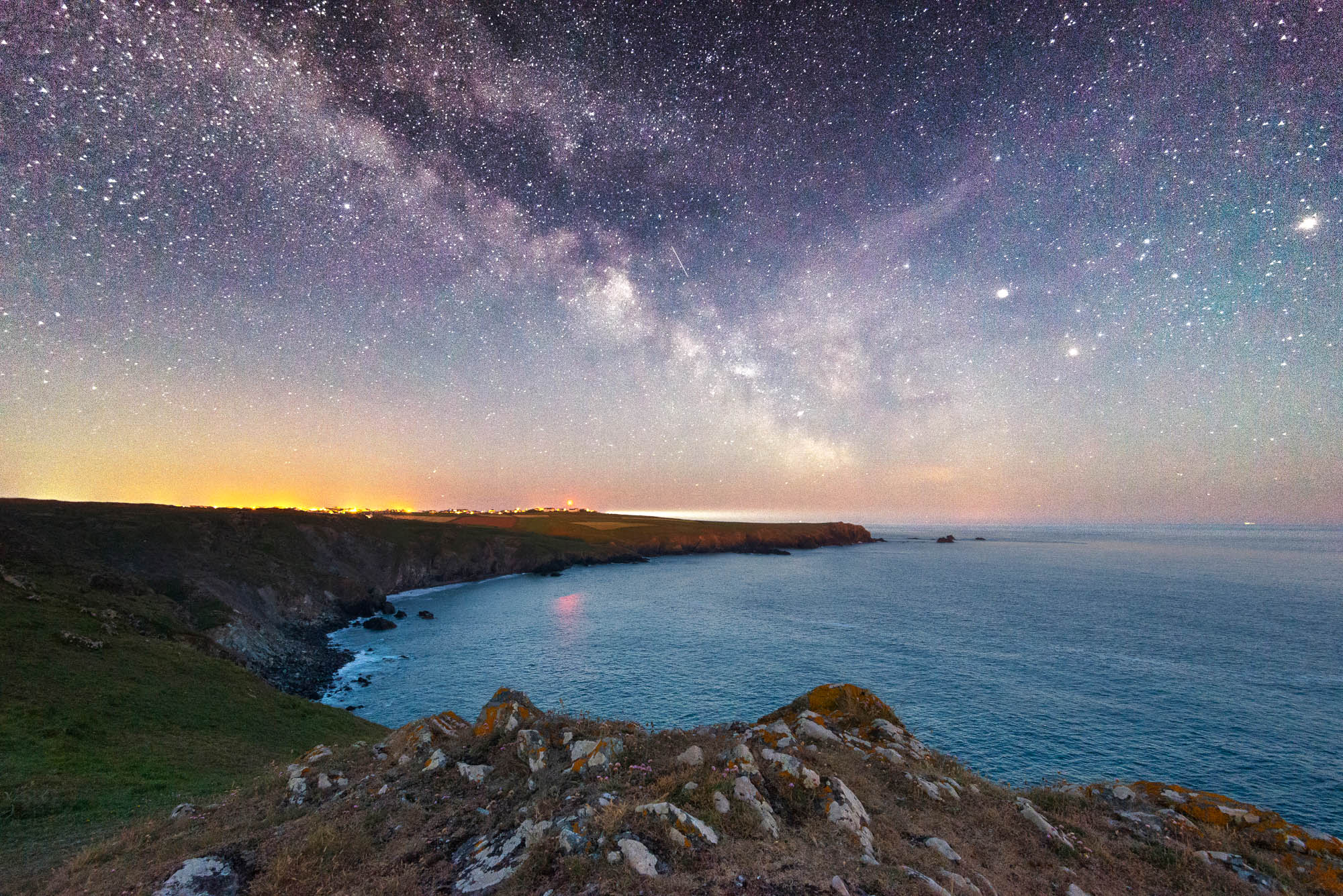 The Milky Way at Kyance Cove in Cornwall, UK