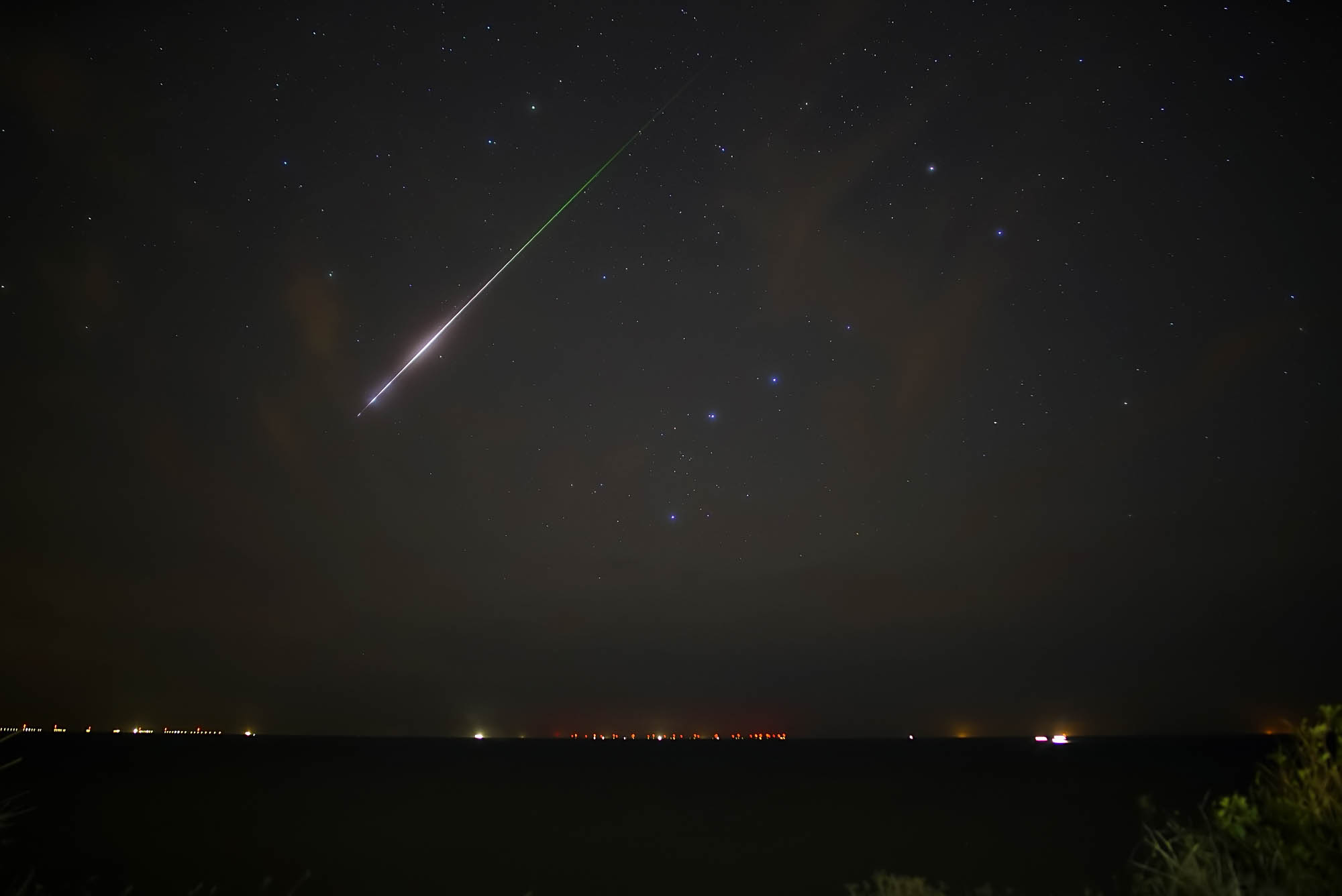 A large Draconid meteor falls from the skies of Norfolk. Draconids showers come from the parent comet 21P/Giacobini-Zinner and peak during the month of October.