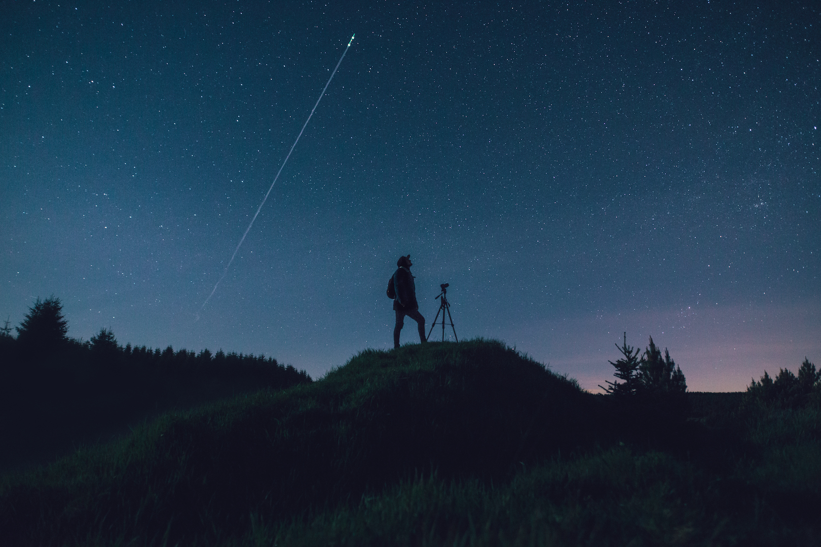 Photographer and the night sky