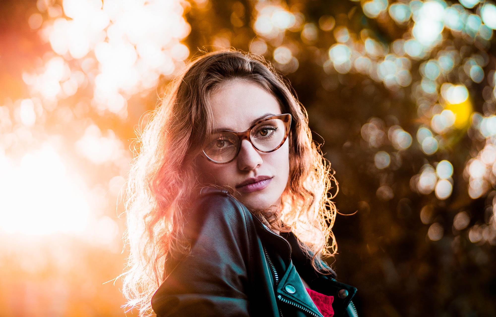 Portrait with bokeh background blur