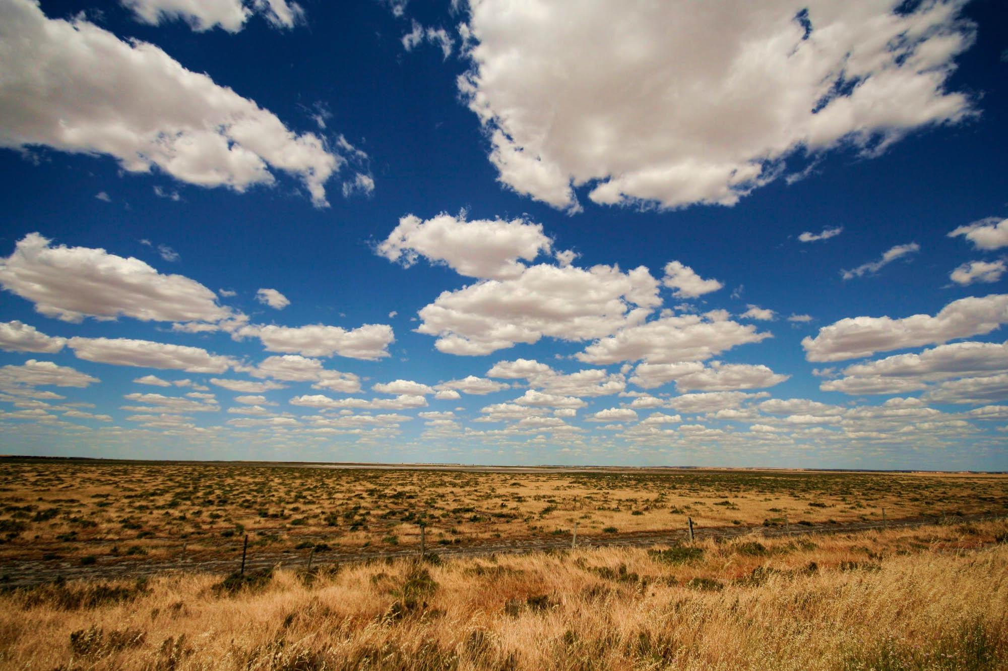 Cloud formations in the Australian wilderness