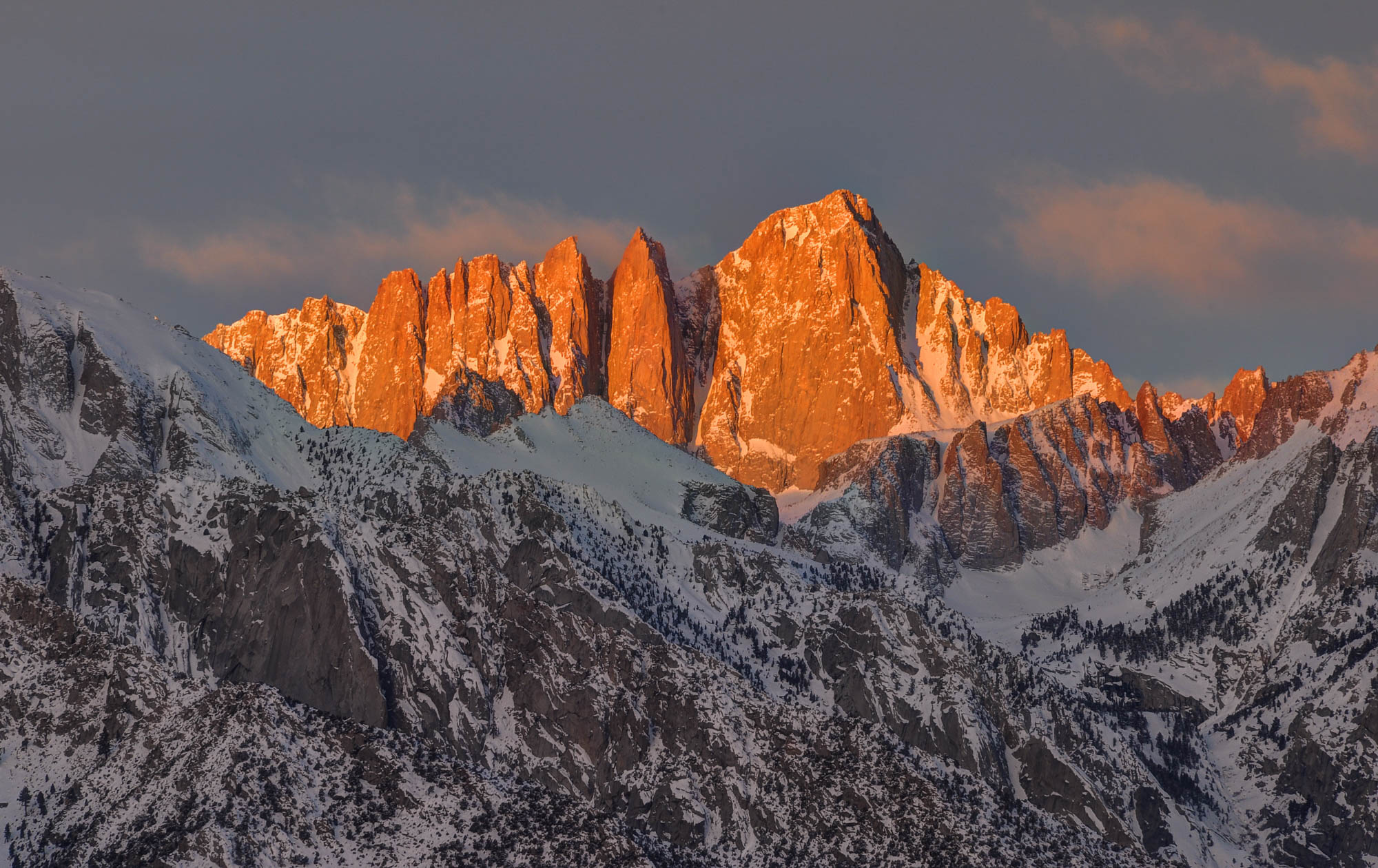 Mount Whitney alpenglow, Inyo National Forest, California