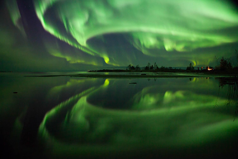A truly spectacular Aurora Borealis display over the Finnish archipelago