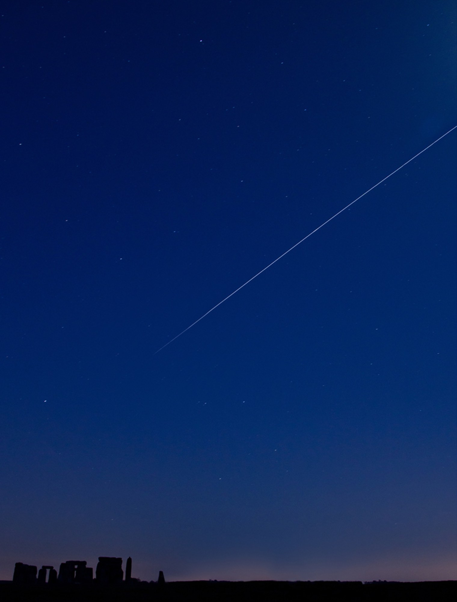 The ISS (International Space Station) above Stonehenge