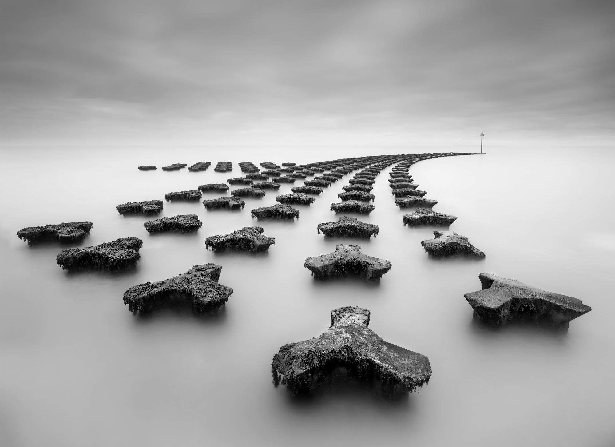 Long exposure image of sea defences at Felixstowe