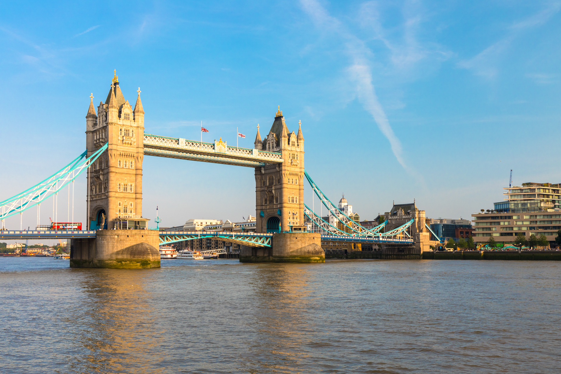 Tower Bridge, London, during the day taken with a full frame camera
