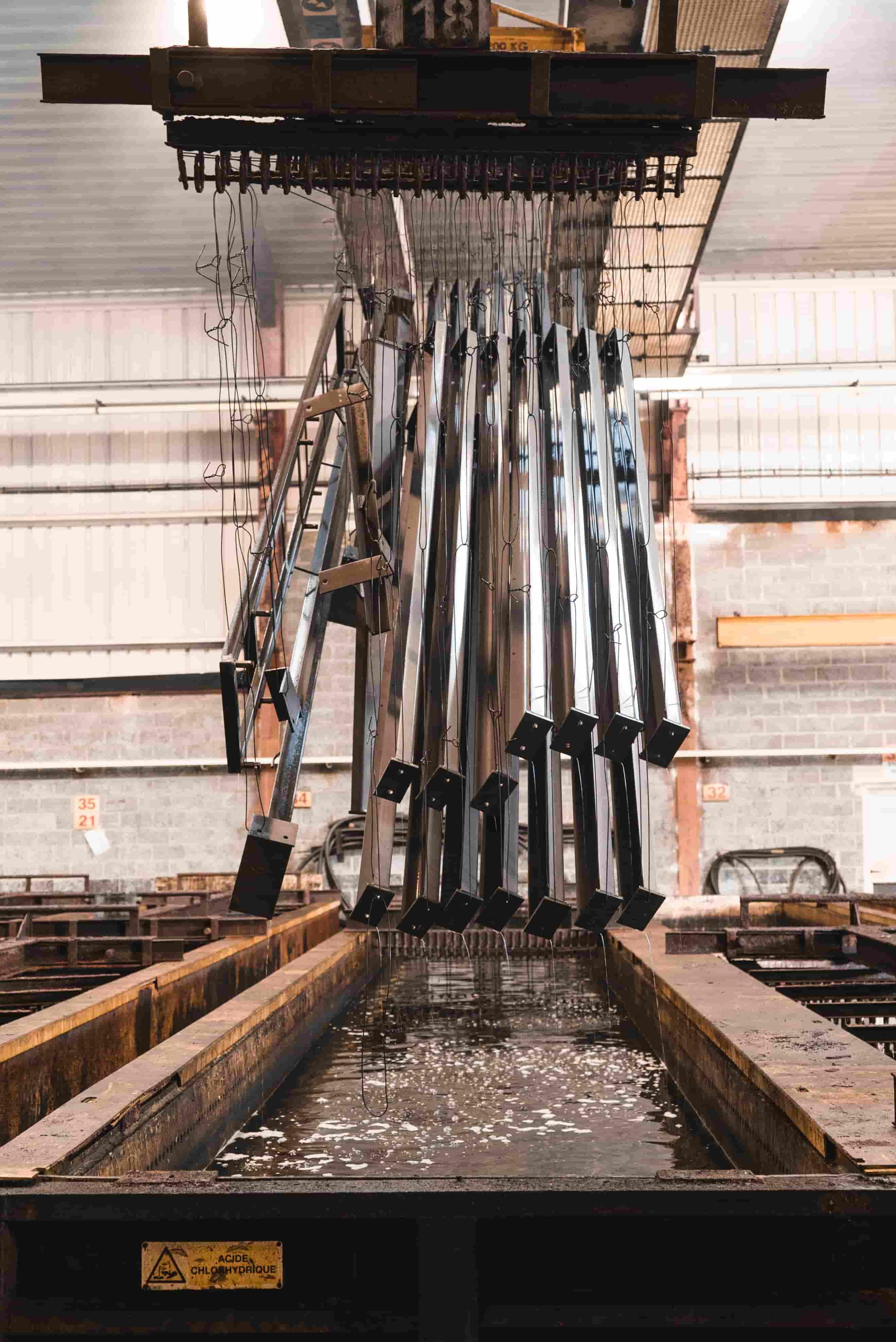 Décapage de métaux en préparation d'une galvanisation
