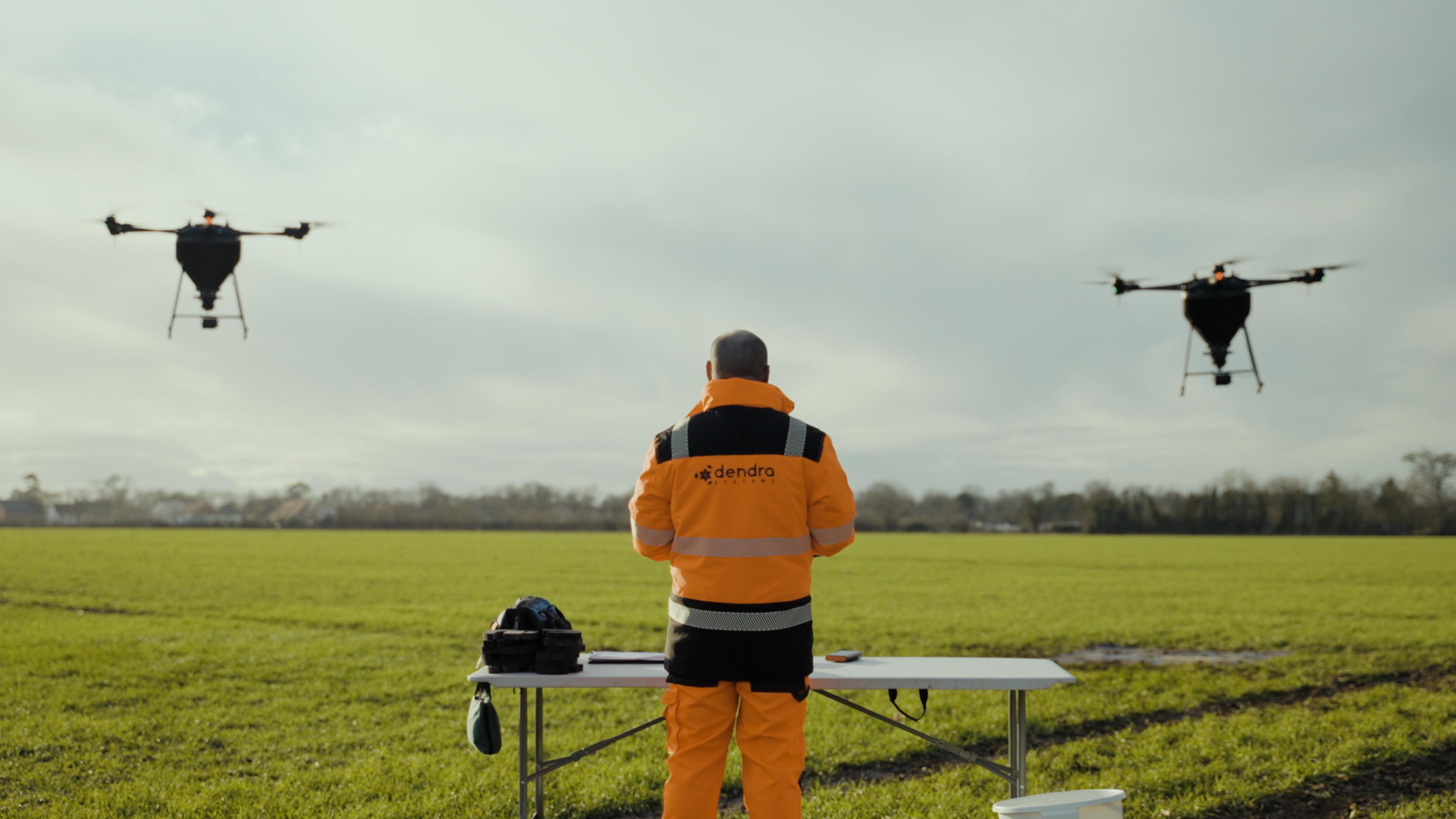 Drone technology aerial seeding