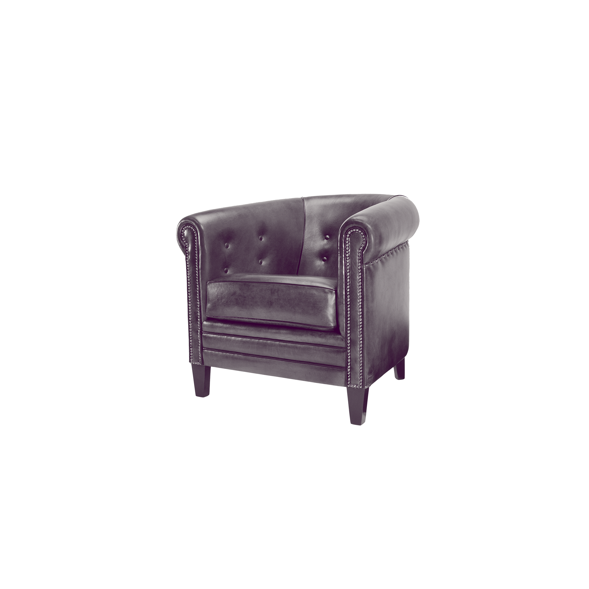 leather single seater armchair  classic design