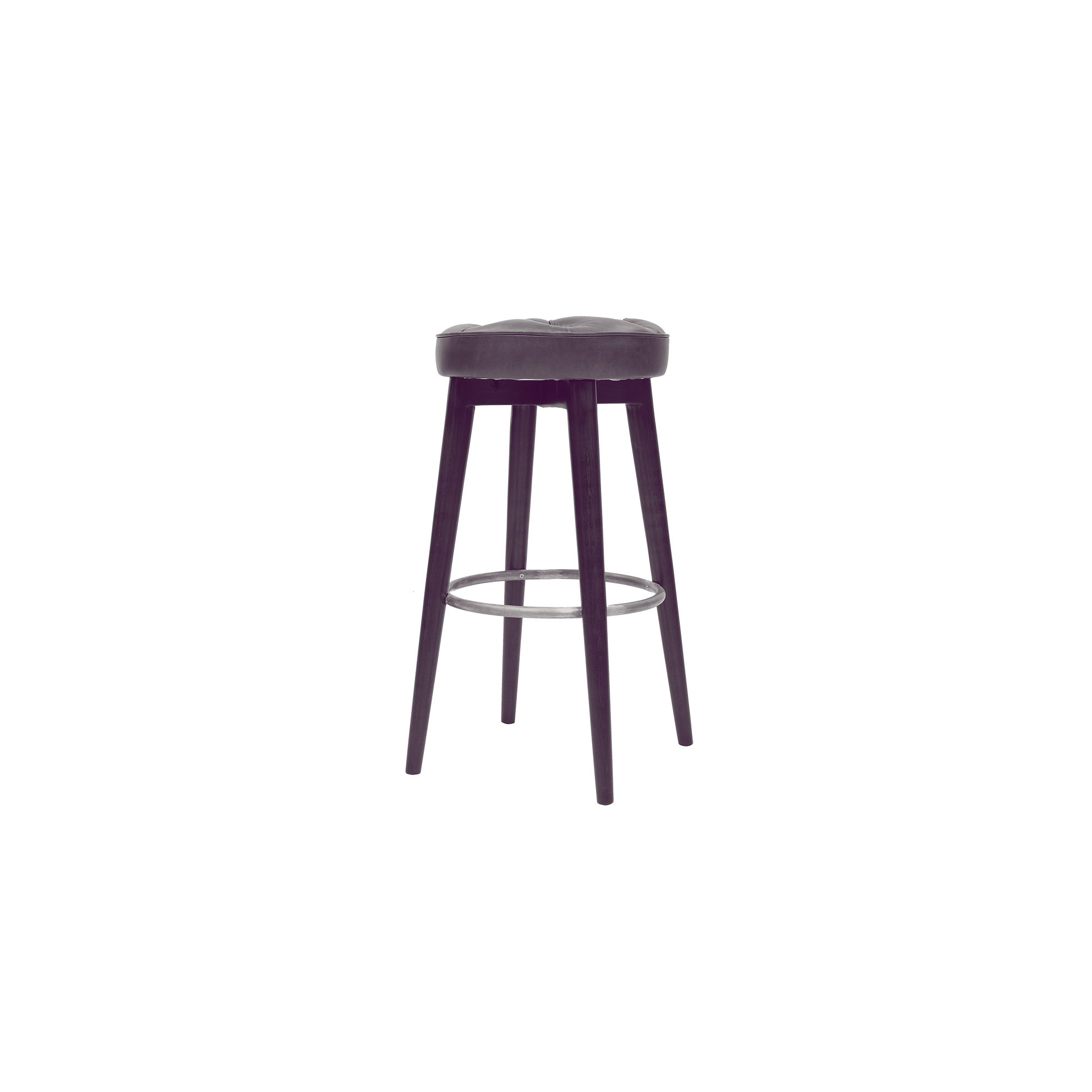 bar stool with leather upholstery
