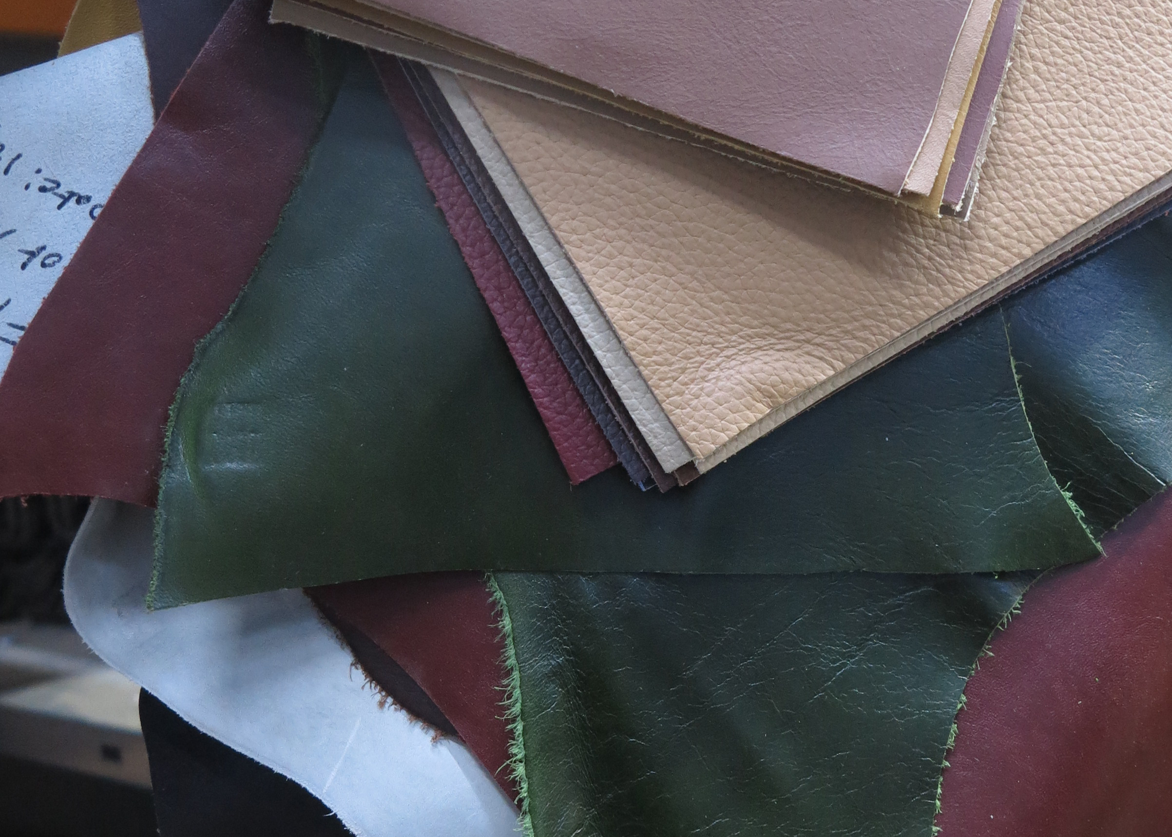 variety of leathers for furniture upholstery