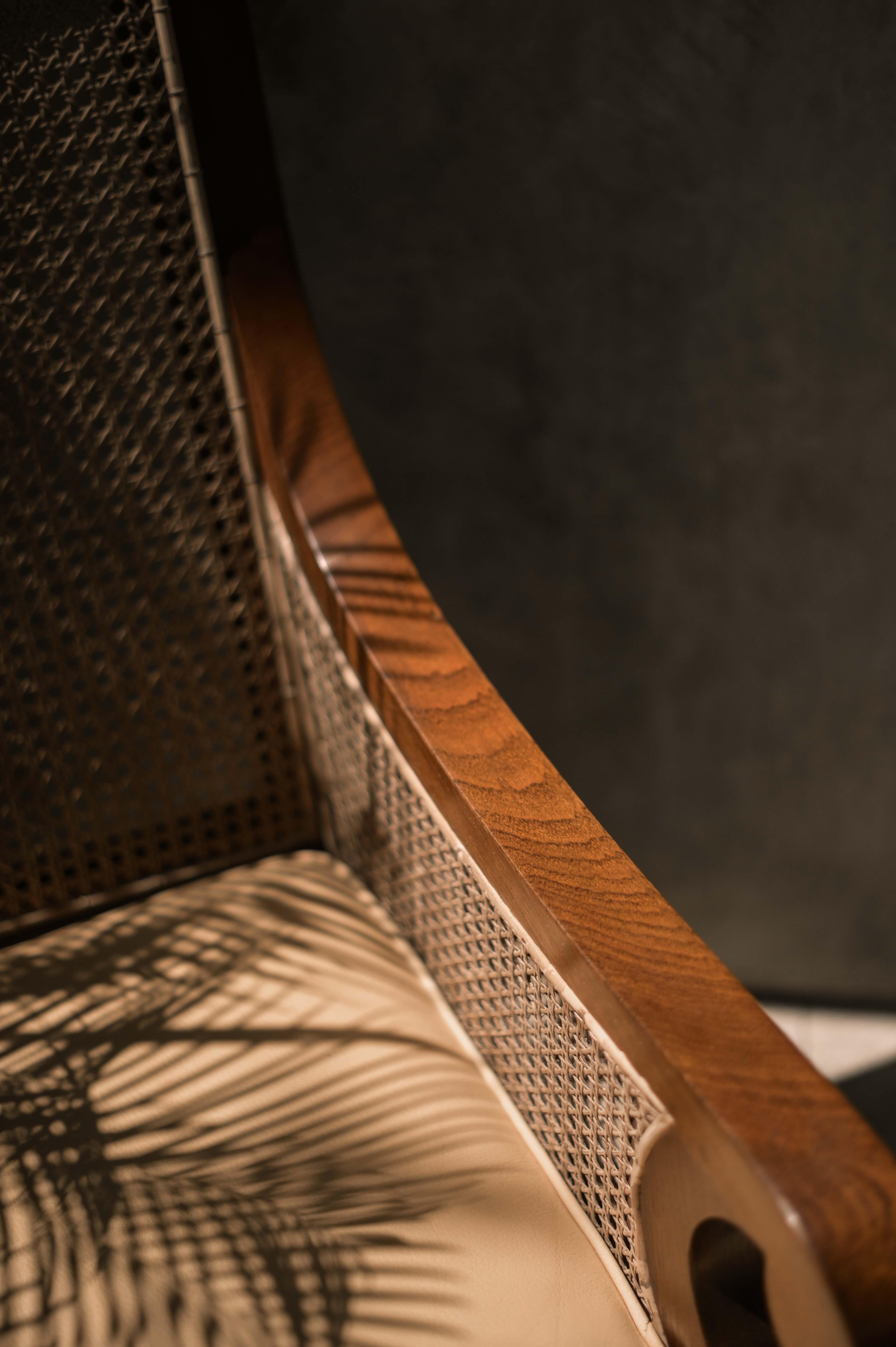 bamboo rattan teak wood furniture armchair