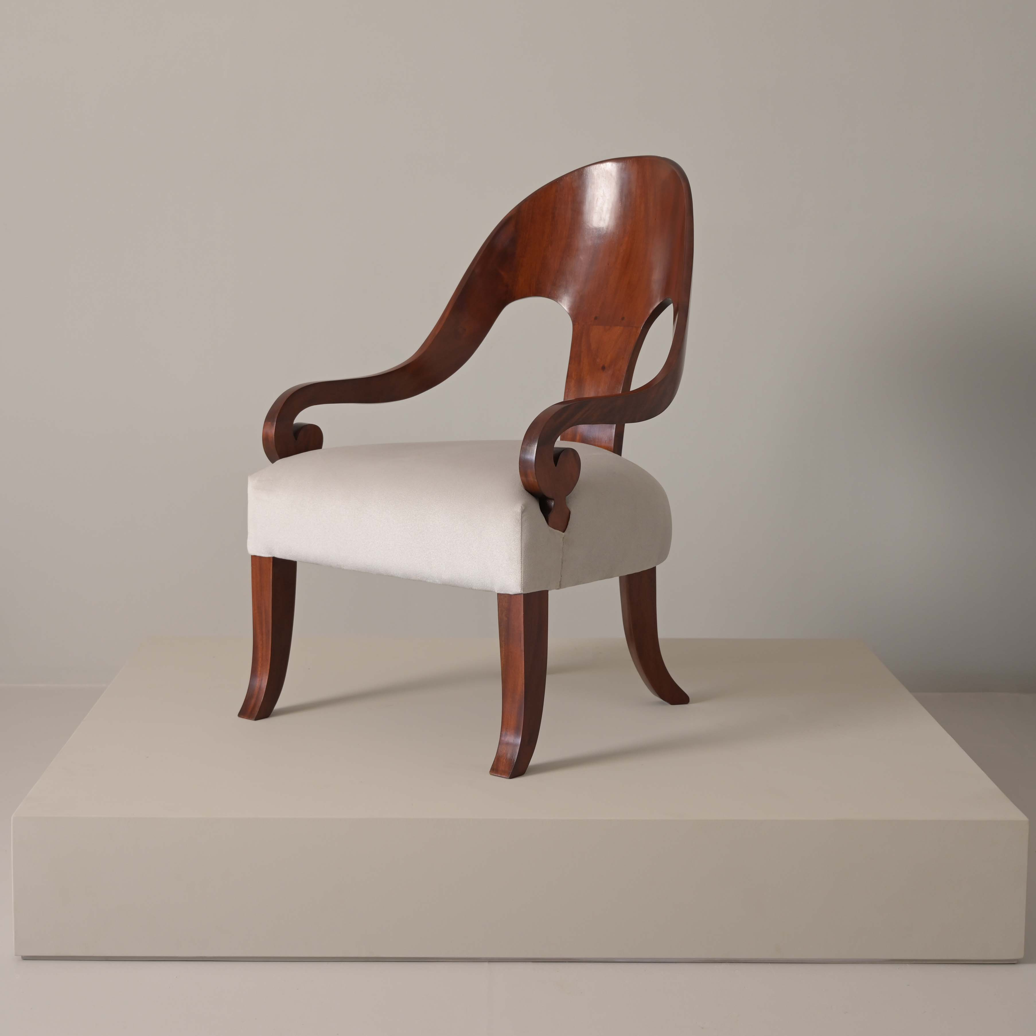 spoon back teak wood classic armchair fabric best