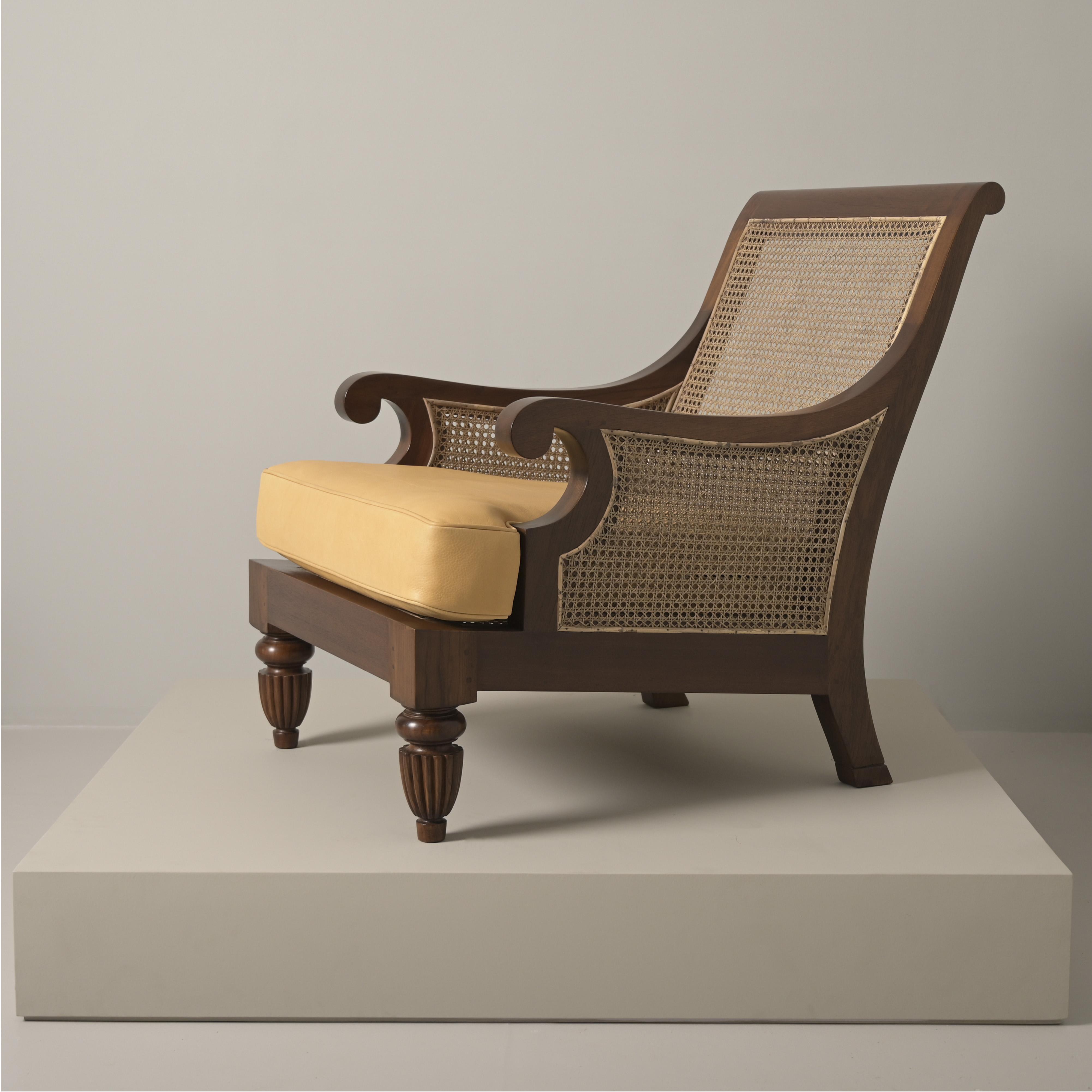 bergere teak wood armchair leather furniture best