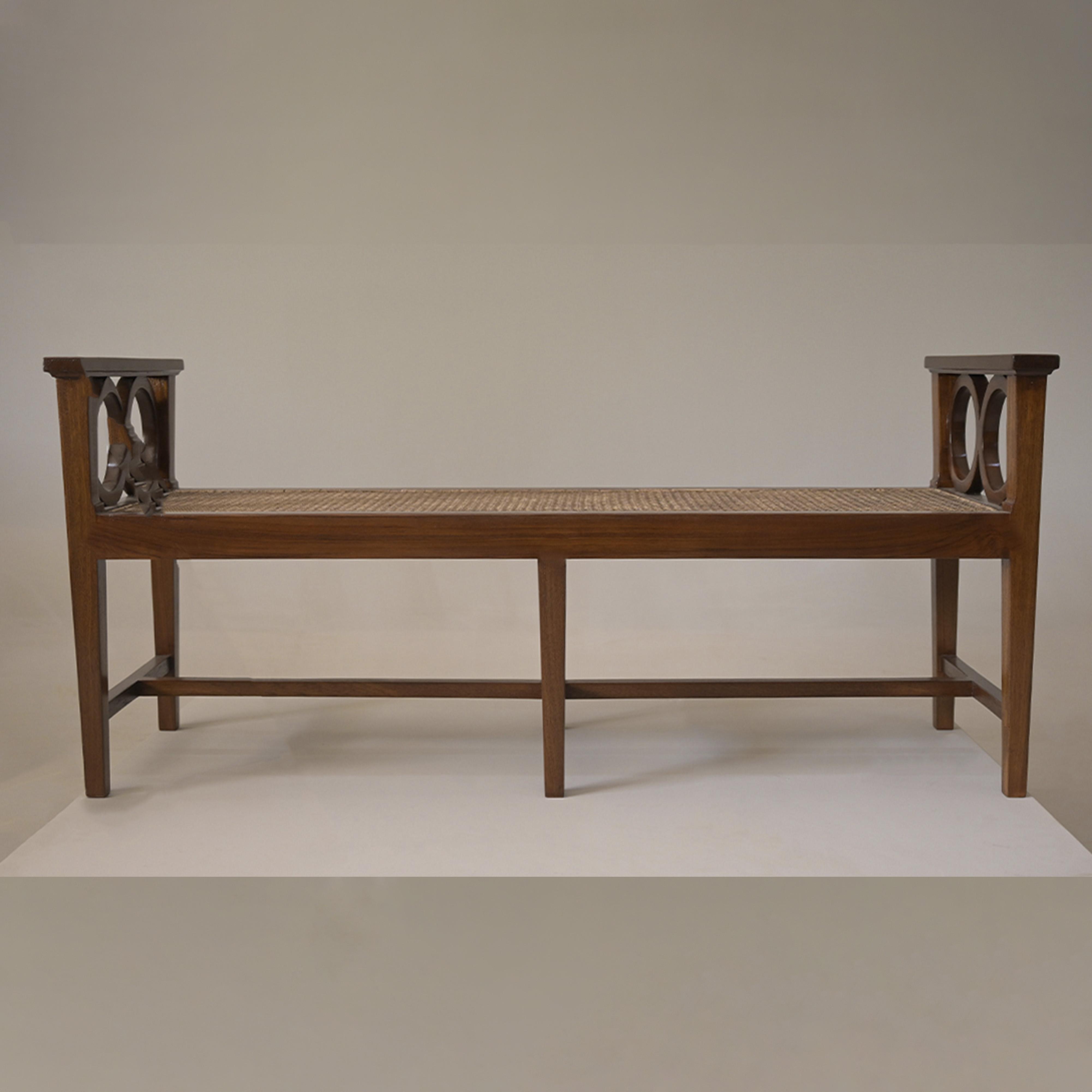 best teak wood furniture rattan woven bench