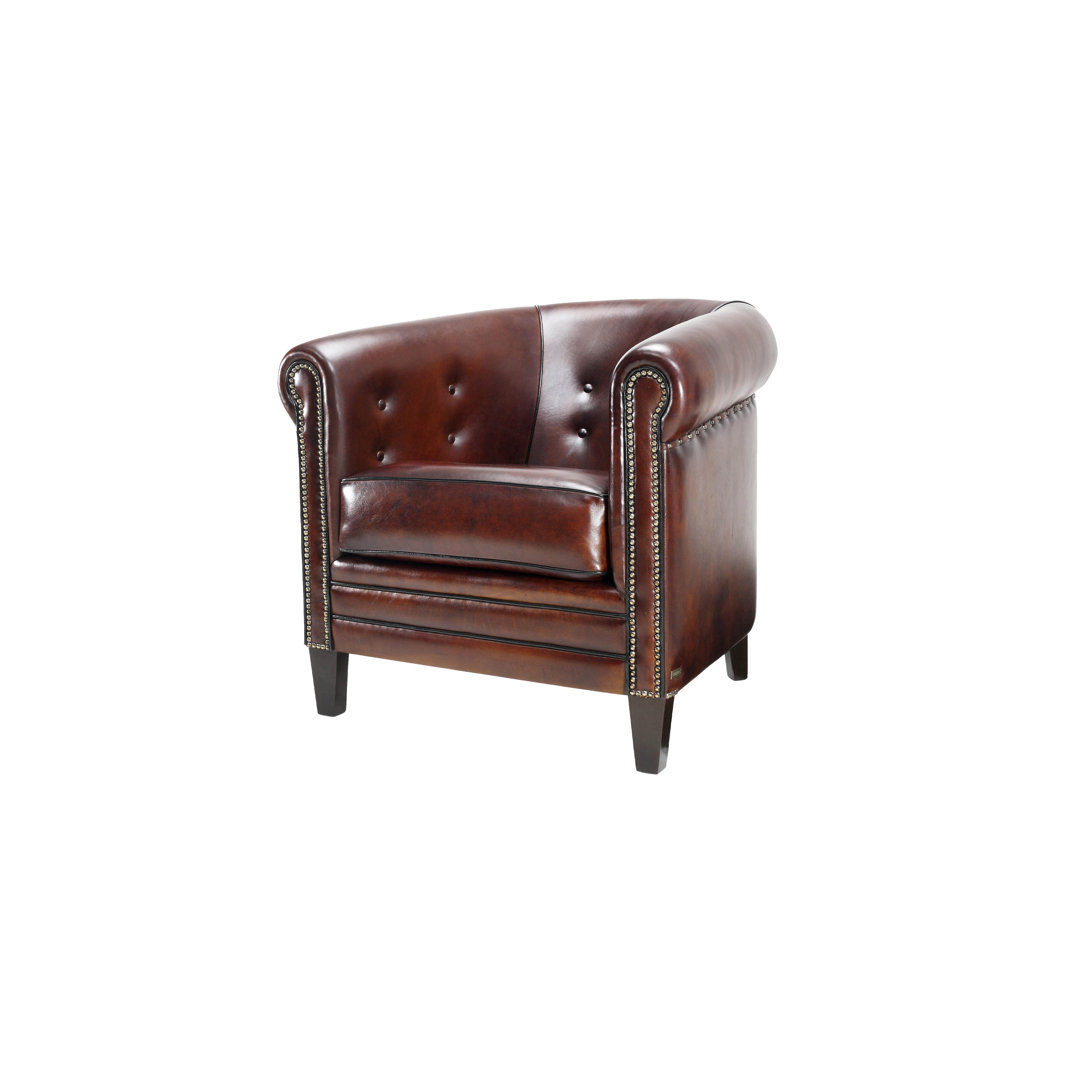 Brown sahib armchair