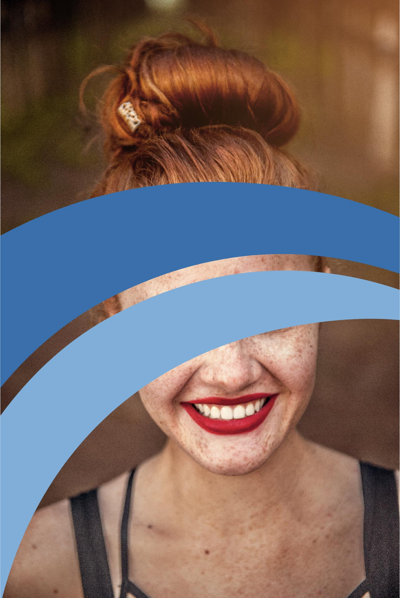 An anonymous photo of a girl with The Counseling Center logo across her face