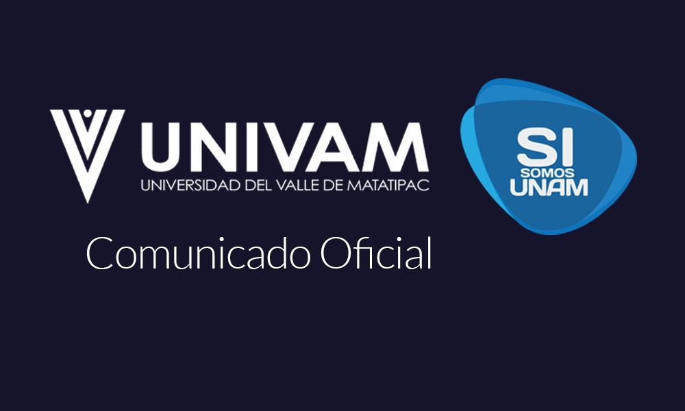 Comunicado Oficial UNIVAM