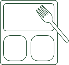 dish with fork