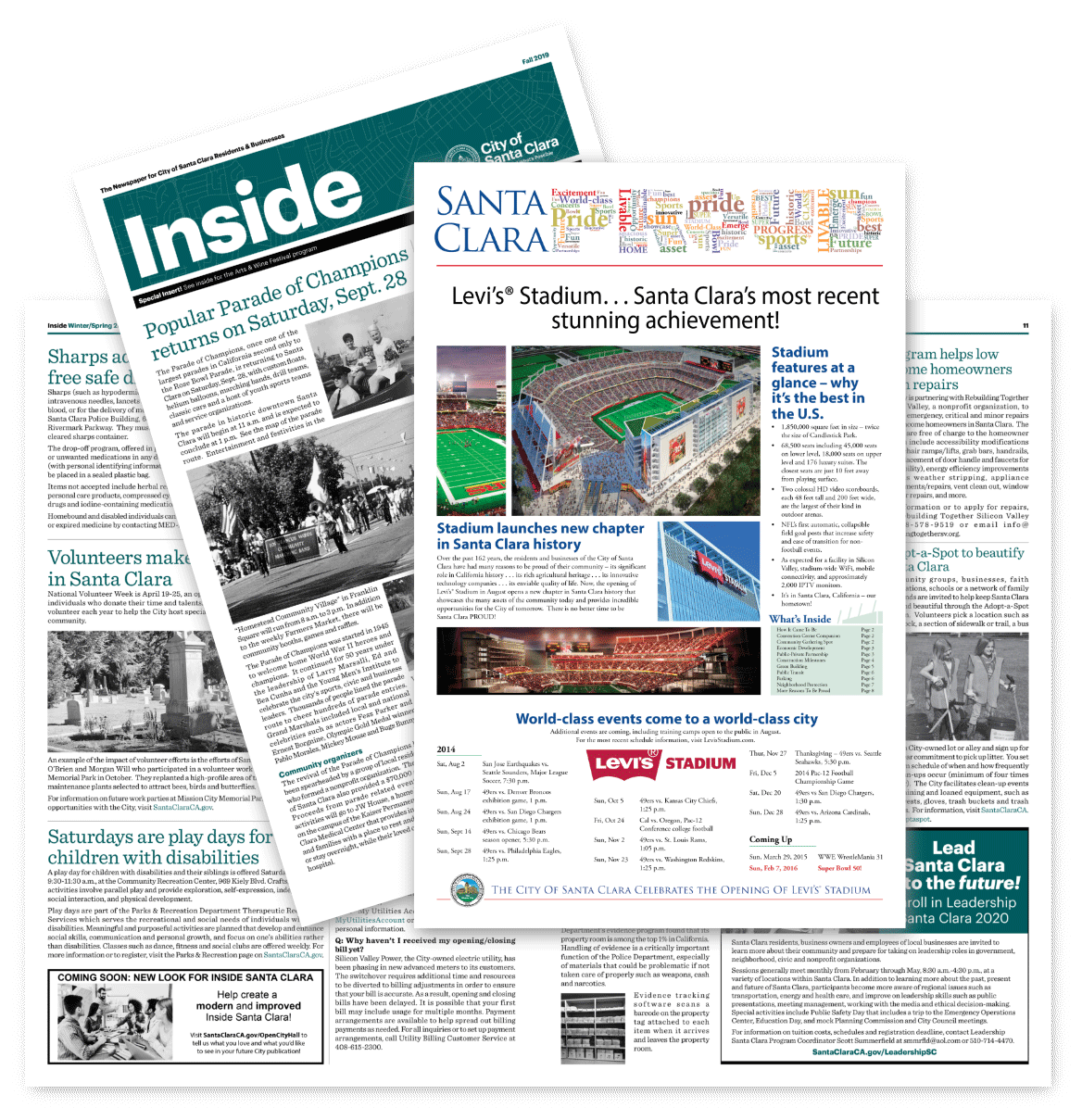 City of Santa Clara newspaper designs