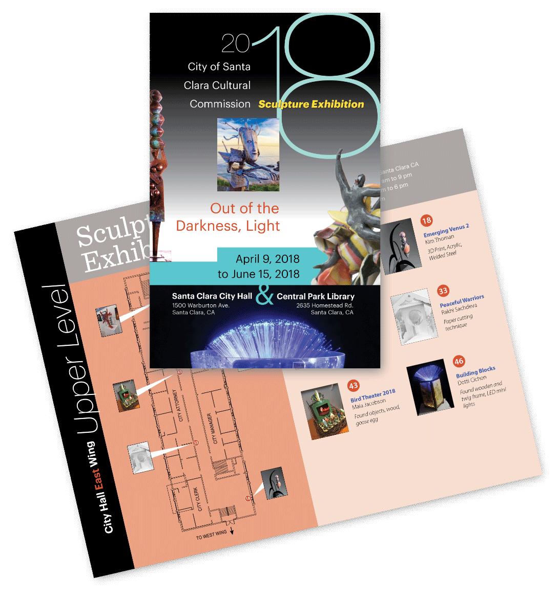 Sculpture exhibit brochure