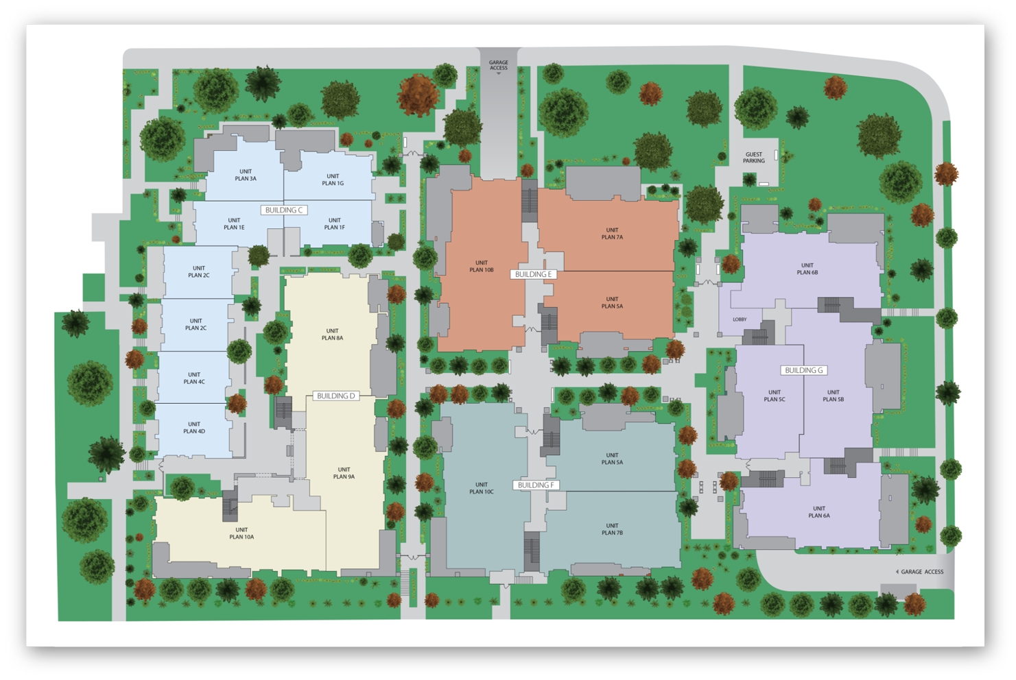 Architectural site map illustration
